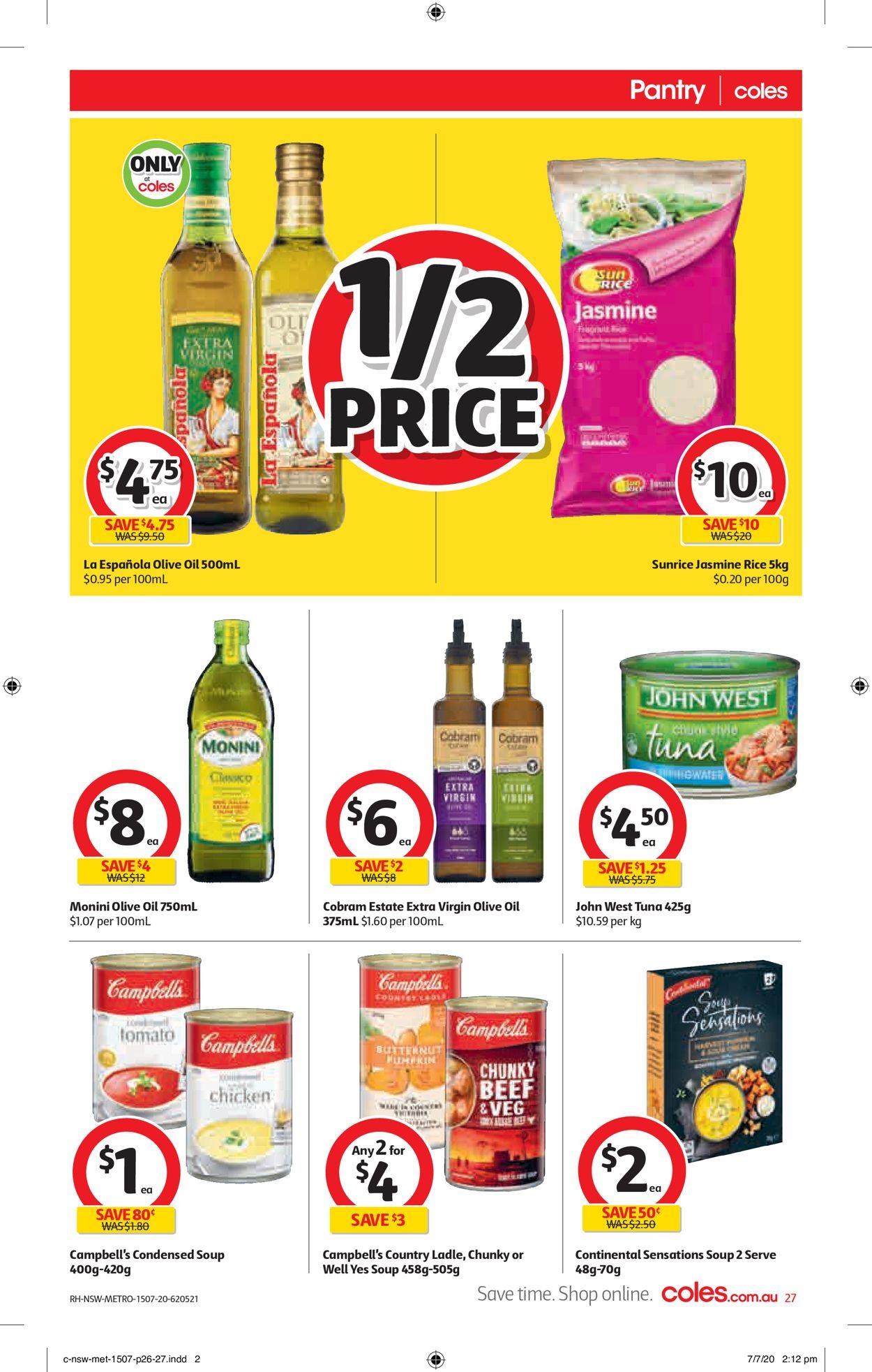 Coles Catalogue - 15/07-21/07/2020 (Page 27)