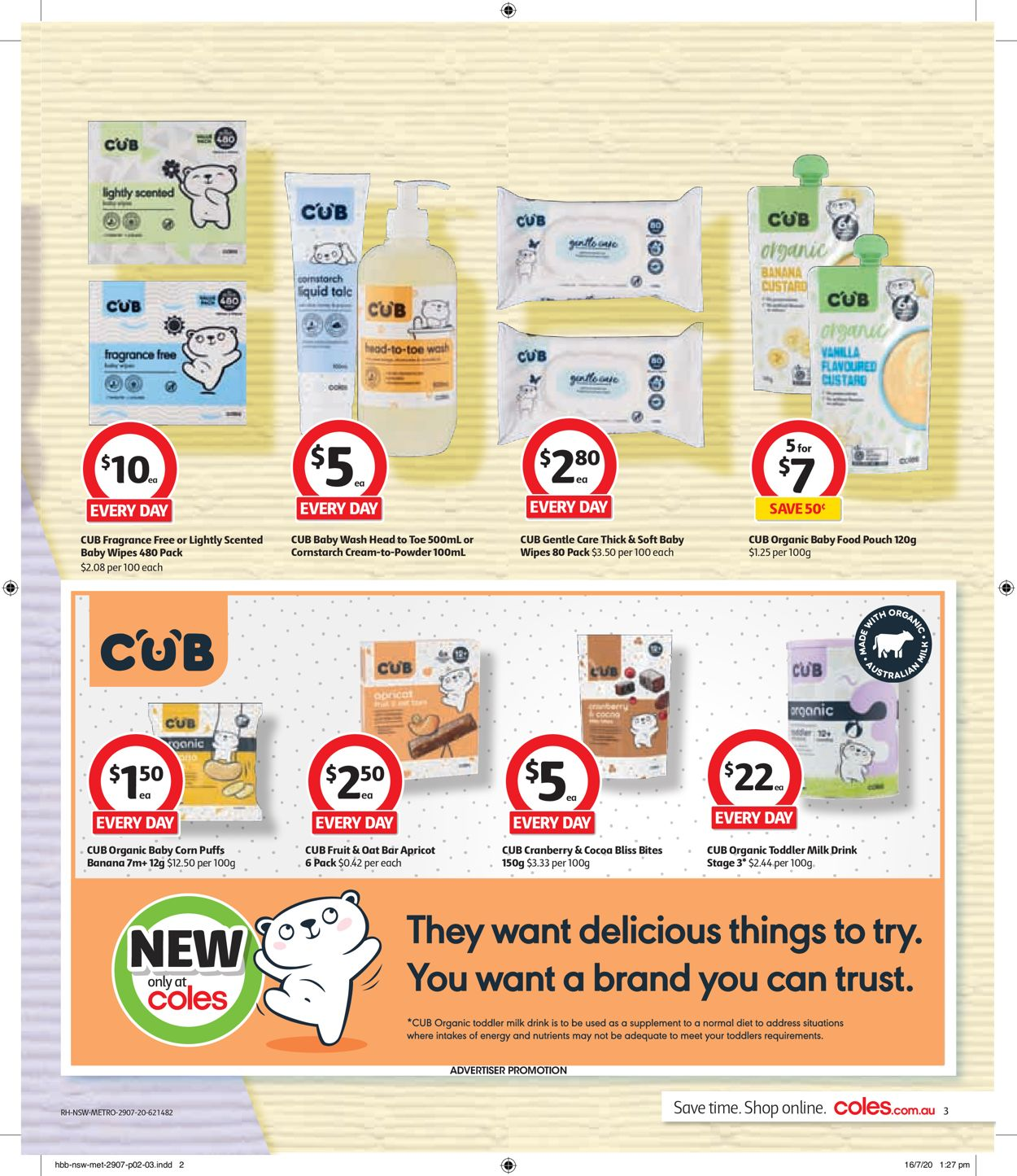 Coles Catalogue - 29/07-04/08/2020 (Page 3)