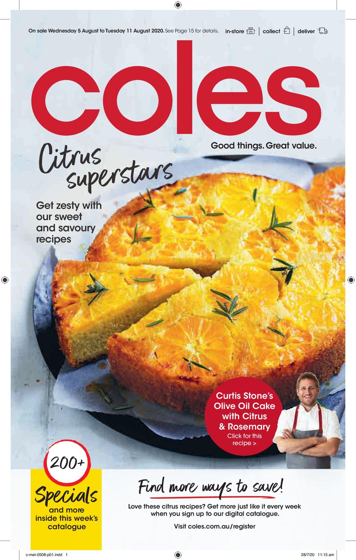Coles Catalogue - 05/08-11/08/2020