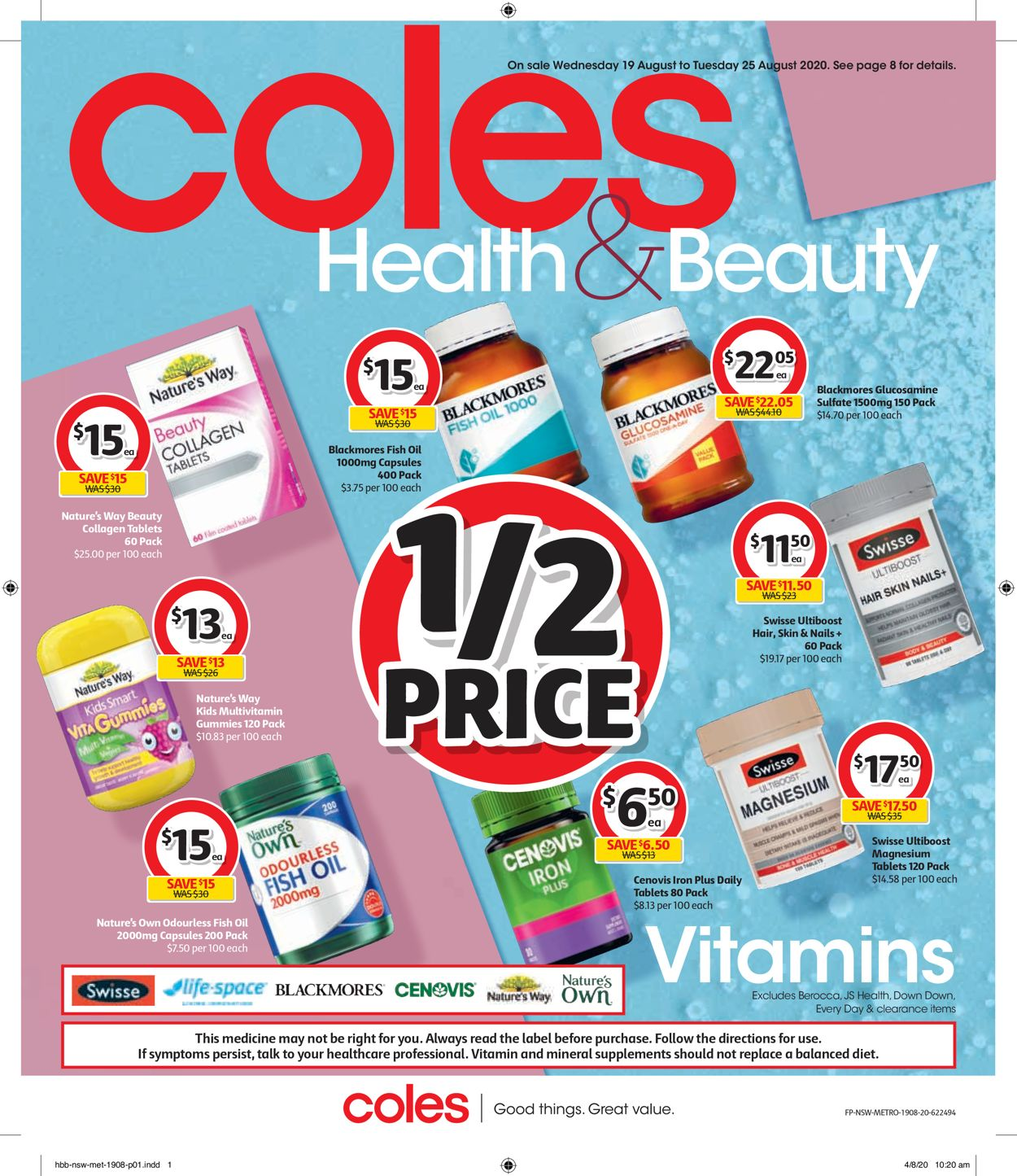 Coles Catalogue - 19/08-25/08/2020