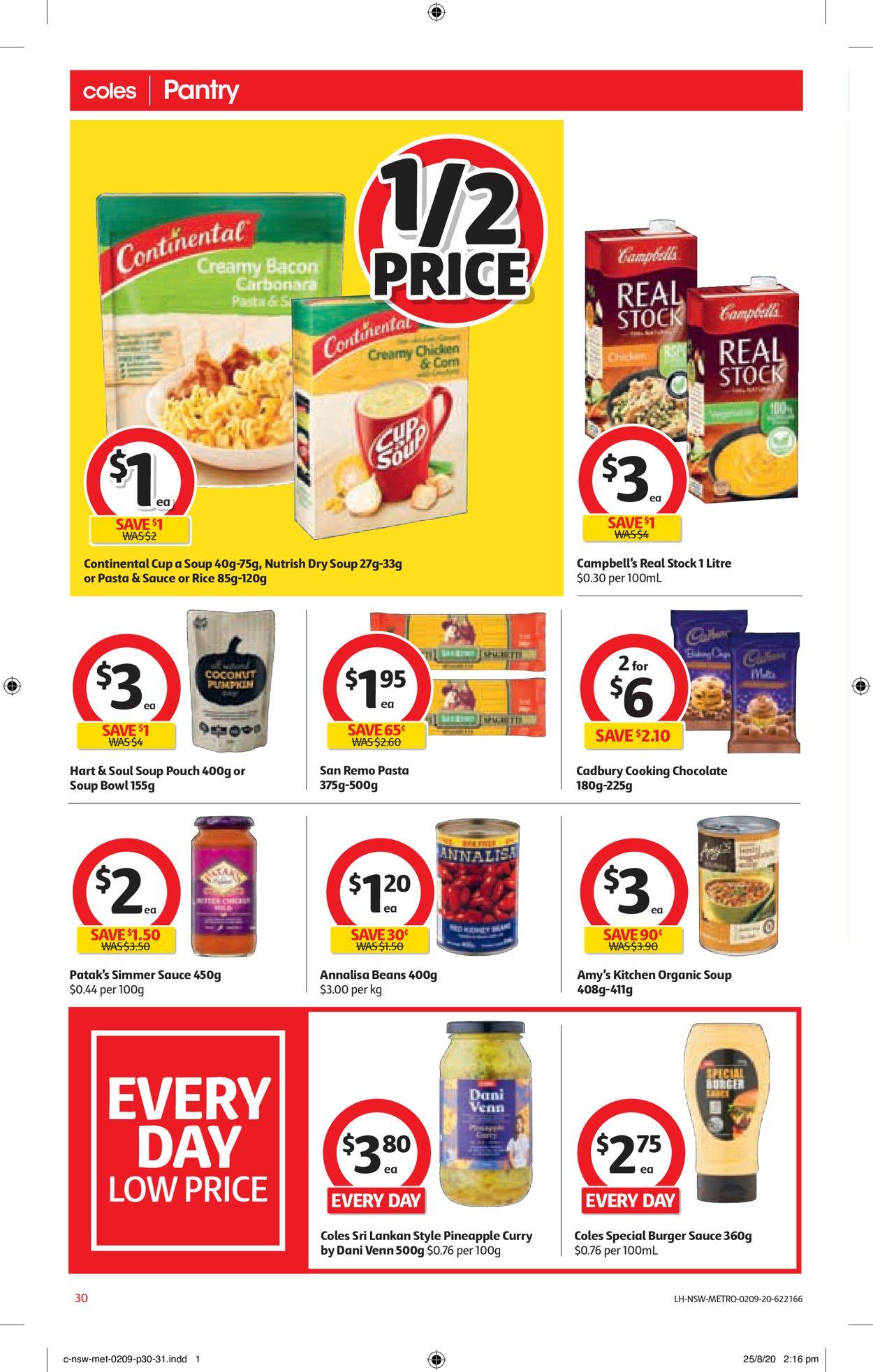 Coles Catalogue - 02/09-08/09/2020 (Page 30)