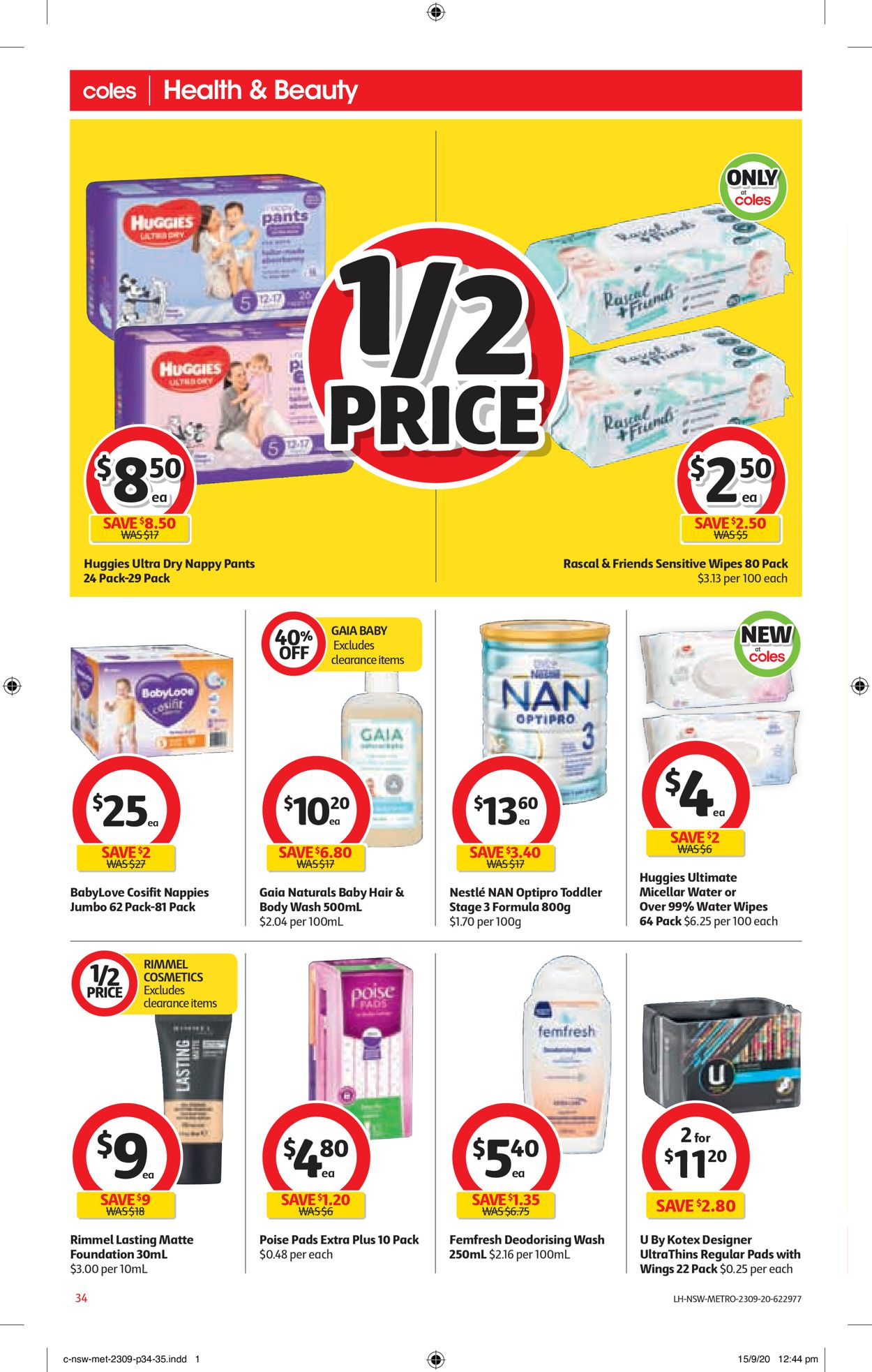 Coles Catalogue - 23/09-29/09/2020 (Page 34)