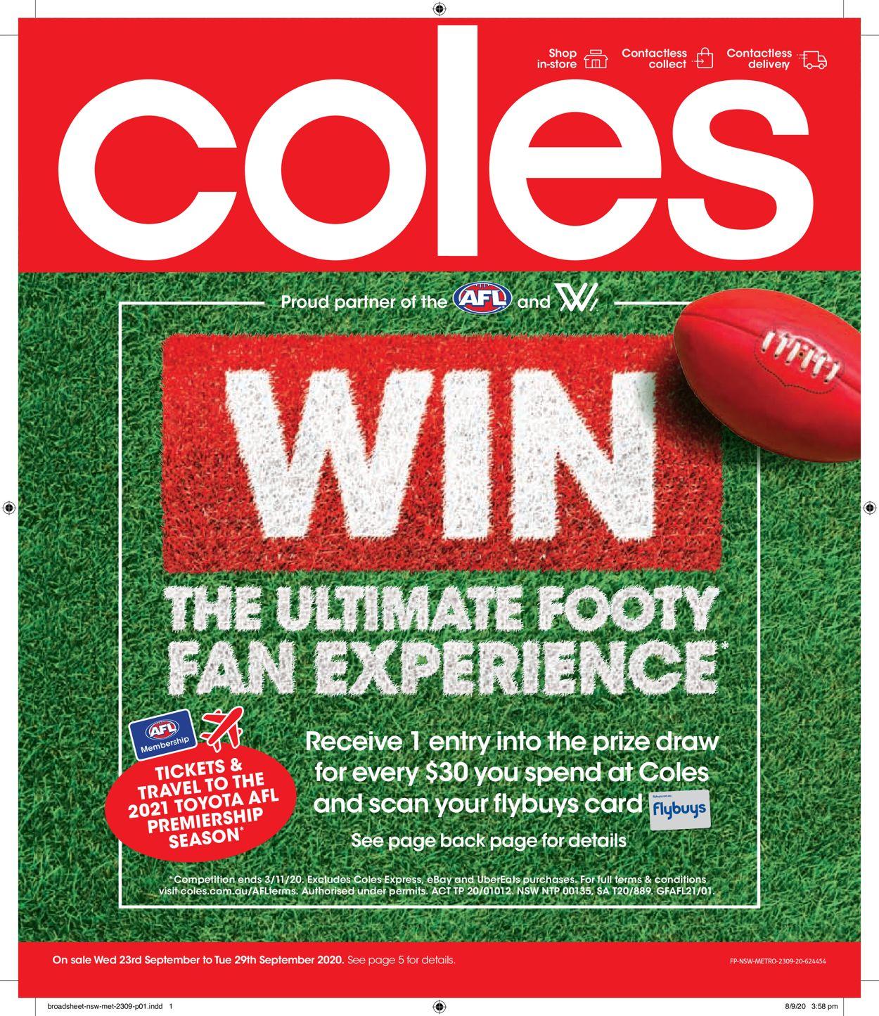 Coles Catalogue - 23/09-29/09/2020