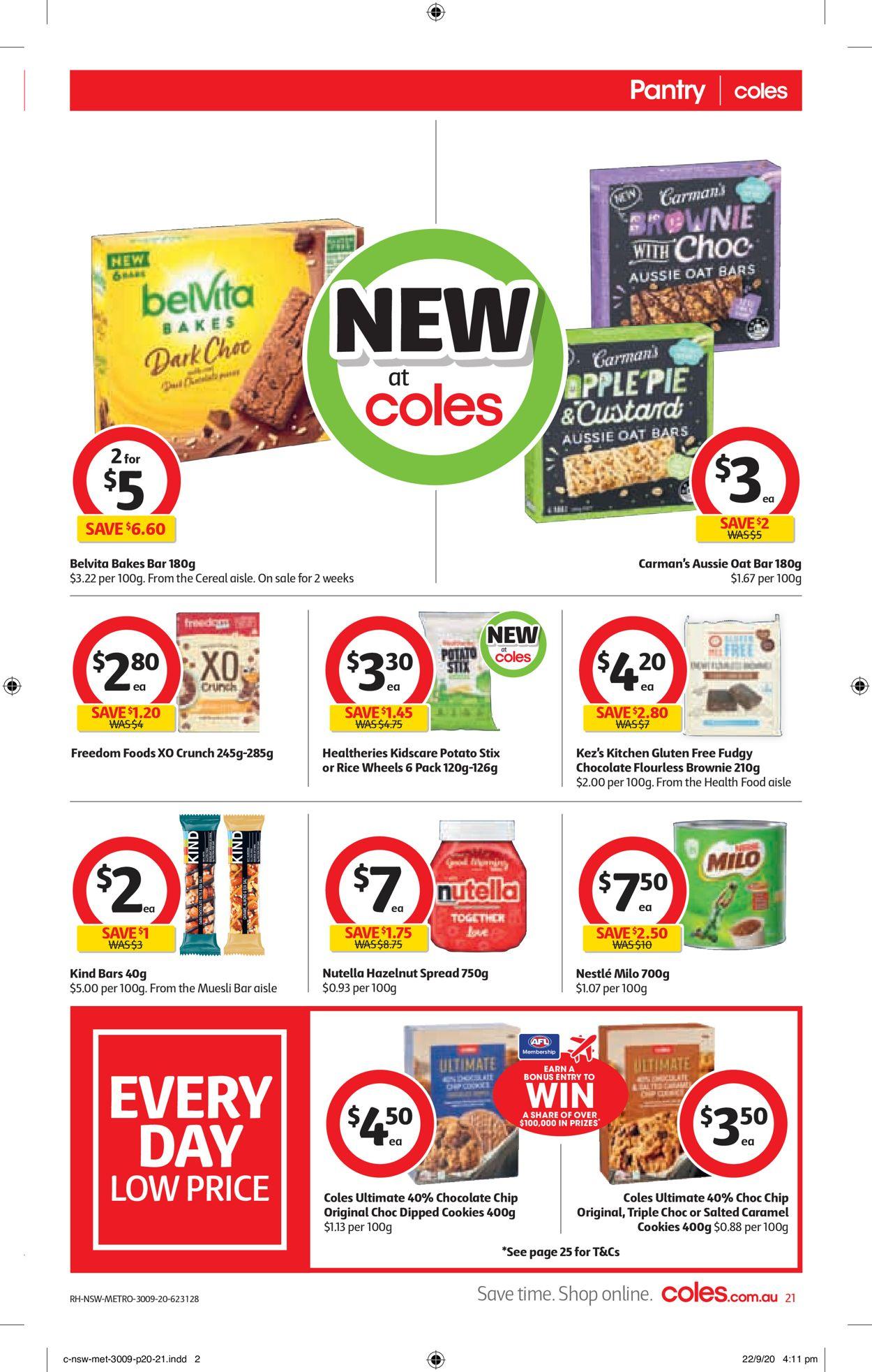 Coles Catalogue - 30/09-06/10/2020 (Page 21)