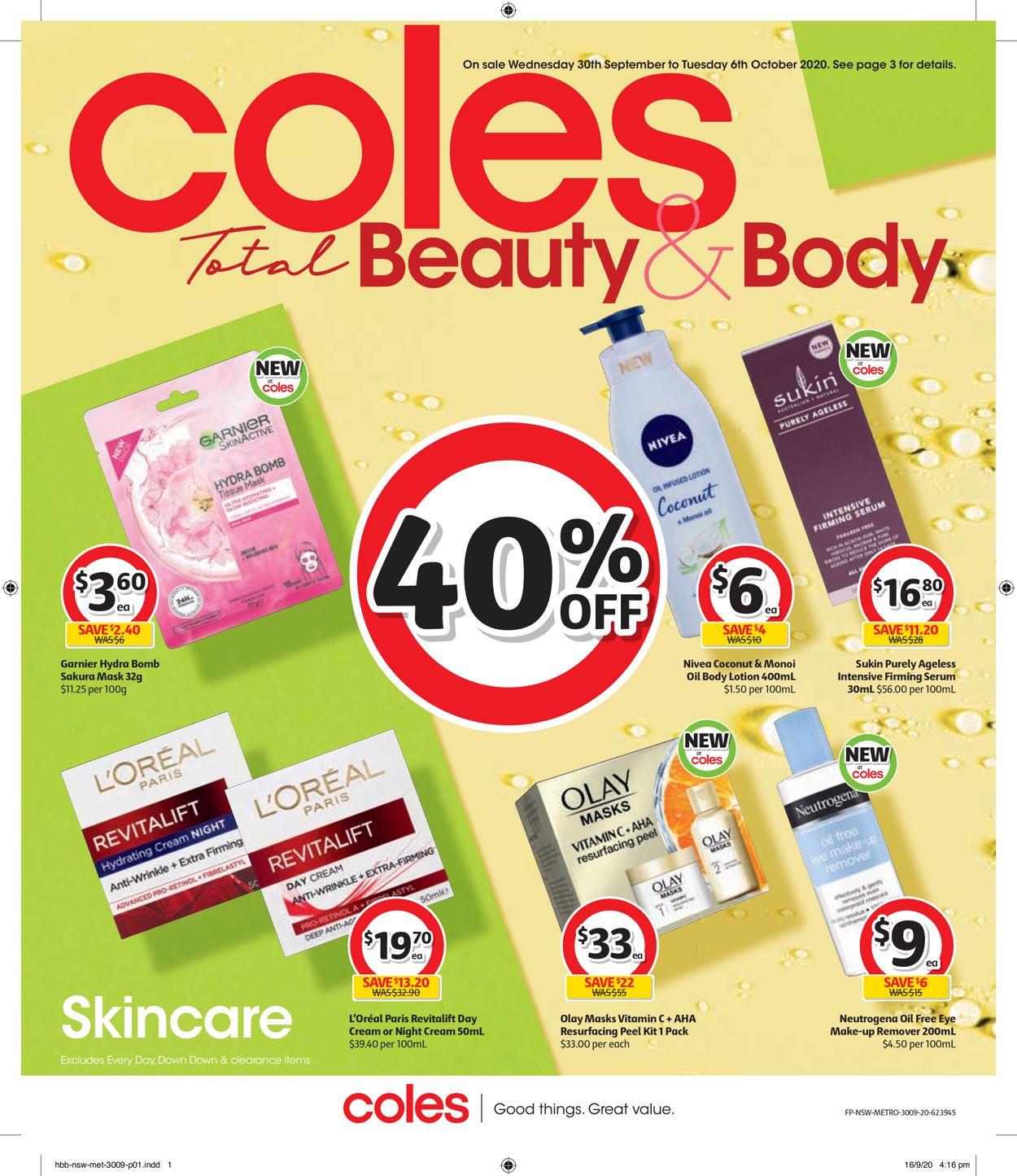 Coles Catalogue - 30/09-06/10/2020