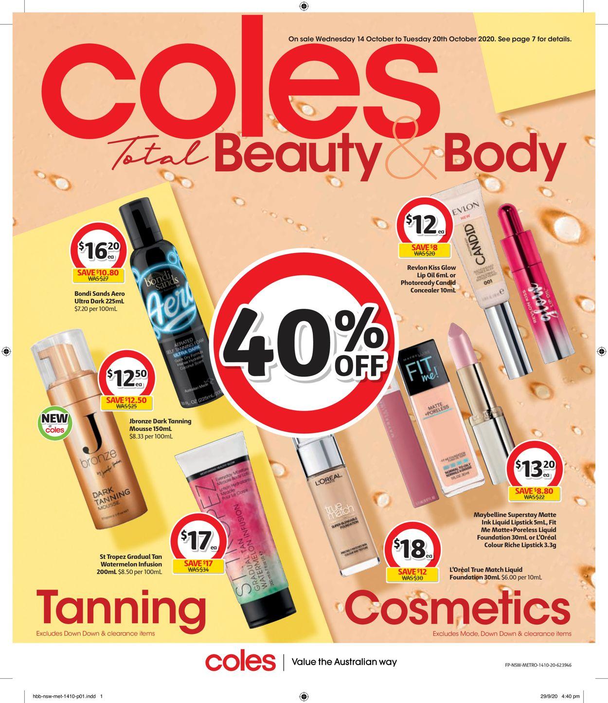 Coles Catalogue - 14/10-20/10/2020