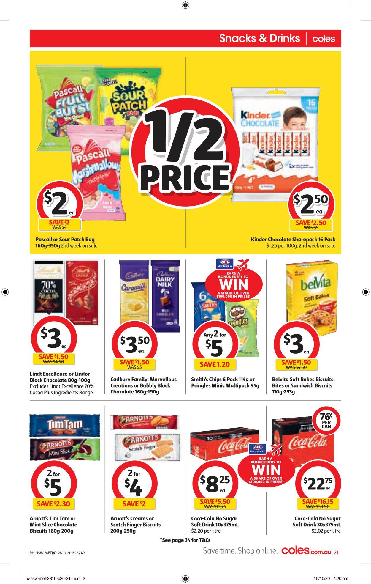 Coles Catalogue - 28/10-03/11/2020 (Page 21)