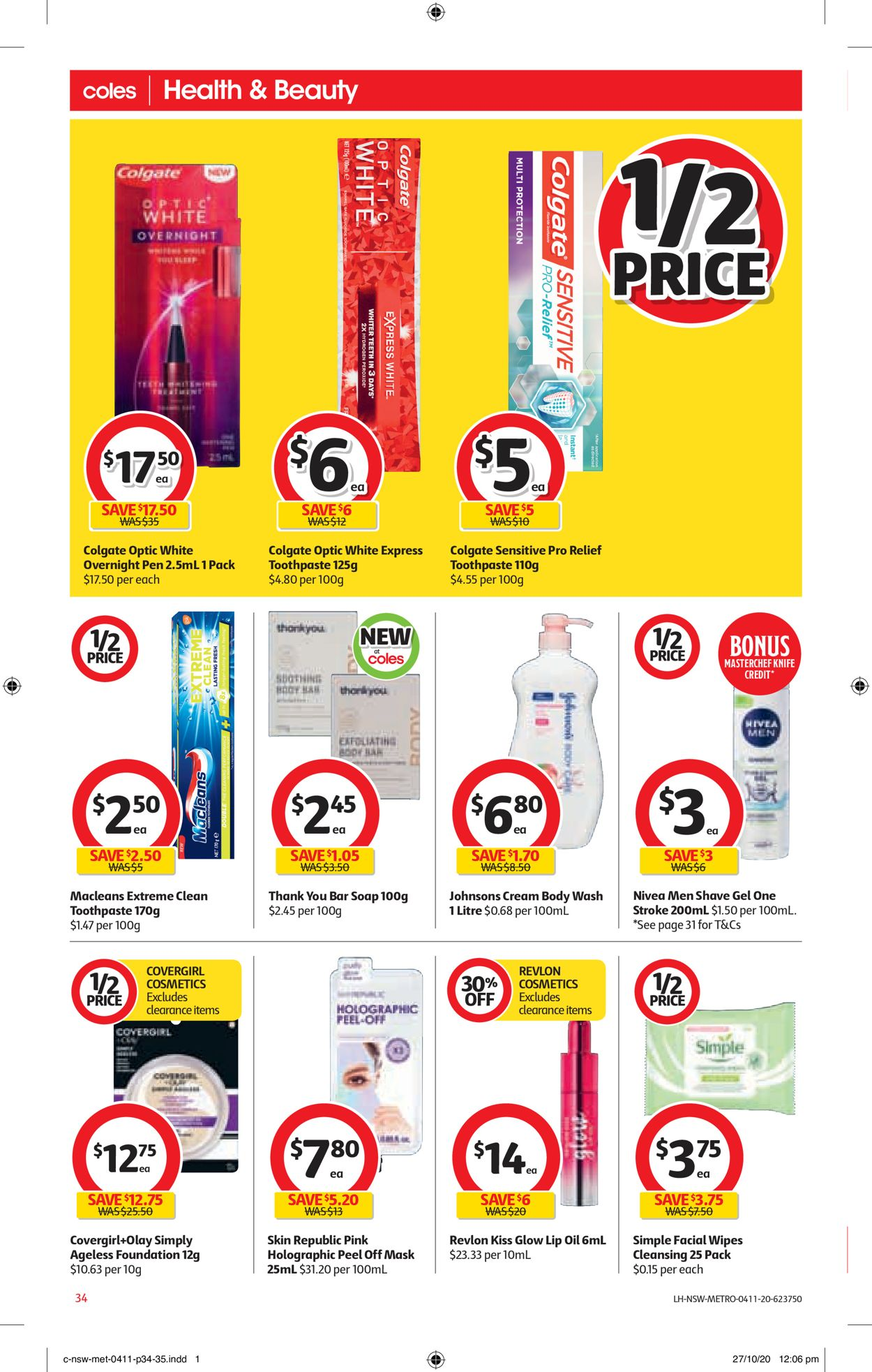 Coles Catalogue - 04/11-10/11/2020 (Page 34)