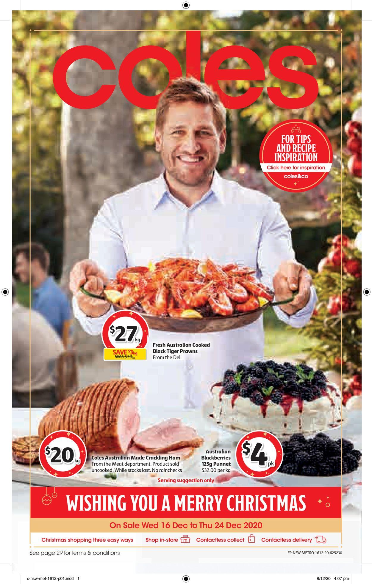 Coles - Christmas 2020 Catalogue - 16/12-24/12/2020