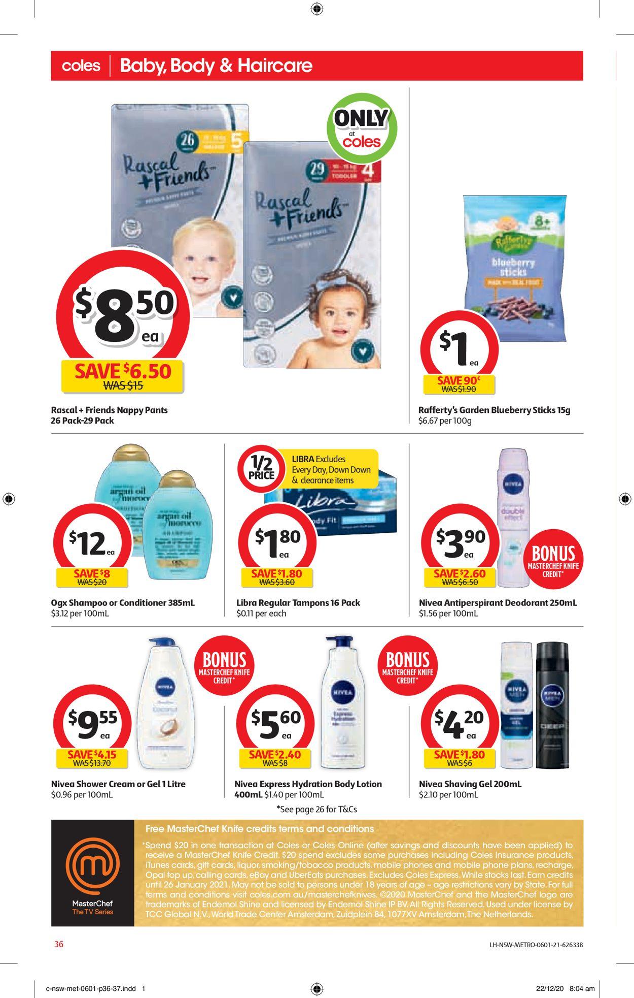 Coles Catalogue - 06/01-12/01/2021 (Page 36)