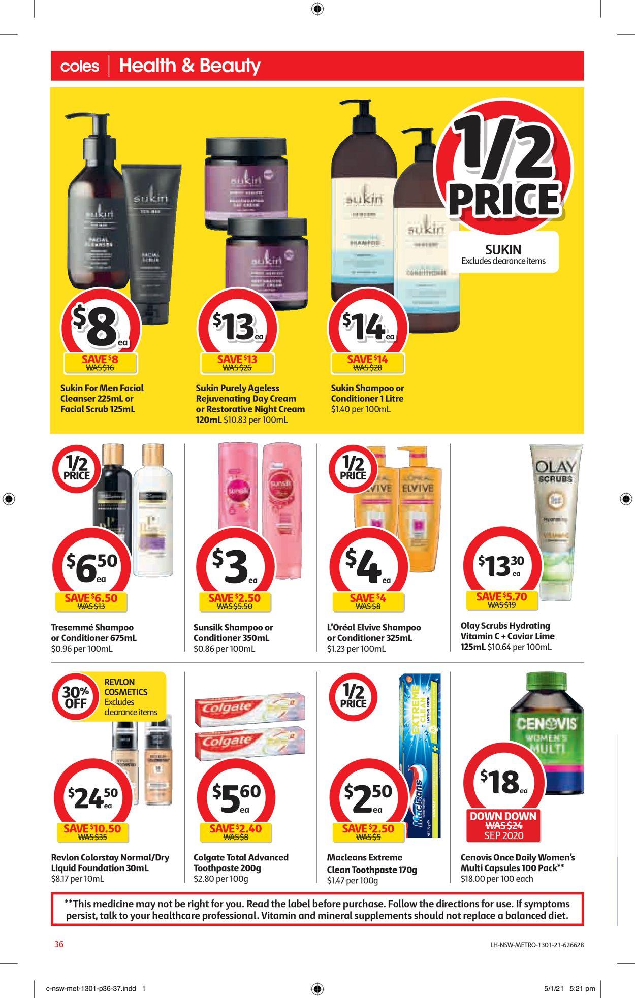 Coles Catalogue - 13/01-19/01/2021 (Page 36)