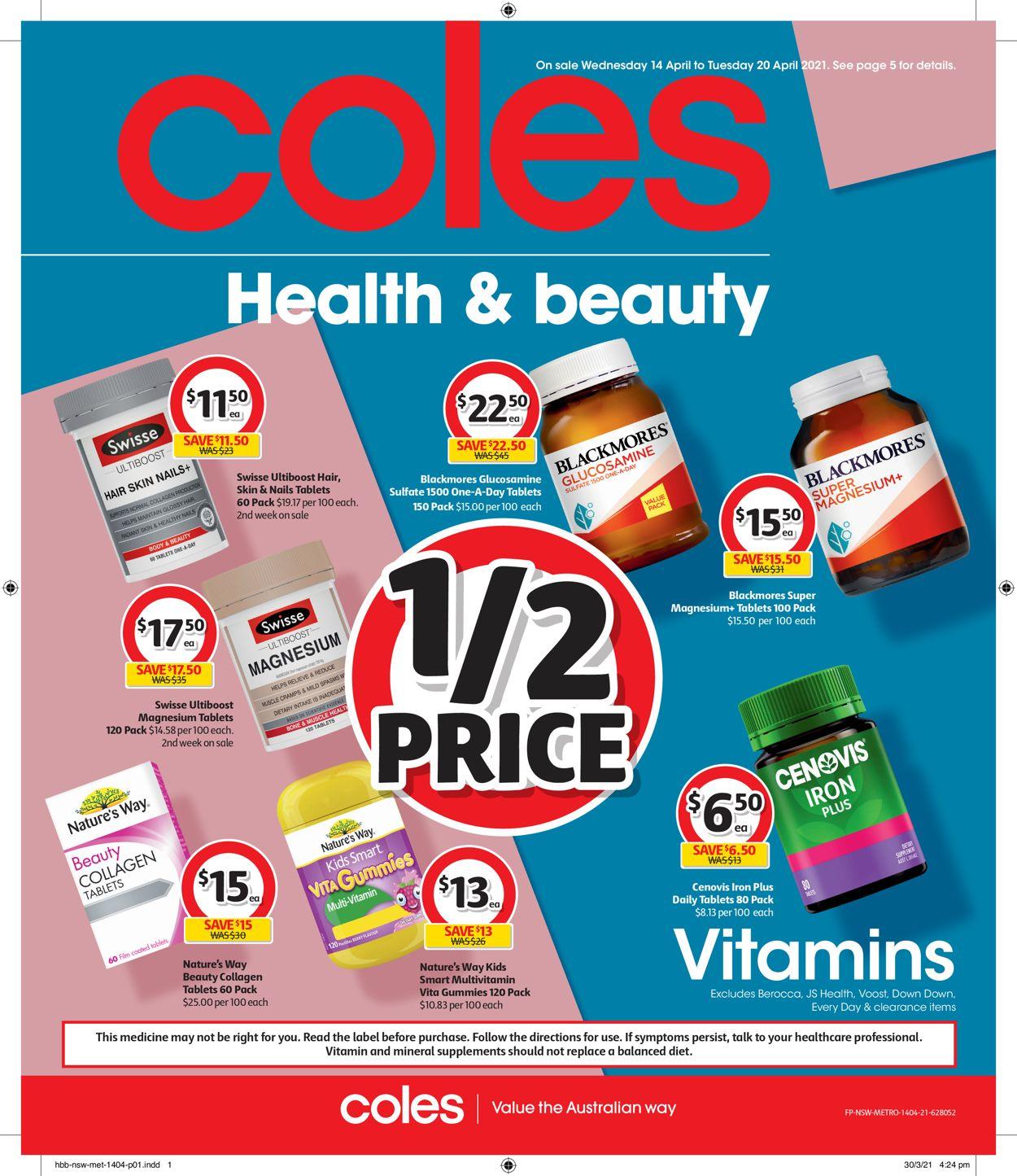 Coles Catalogue - 14/04-20/04/2021