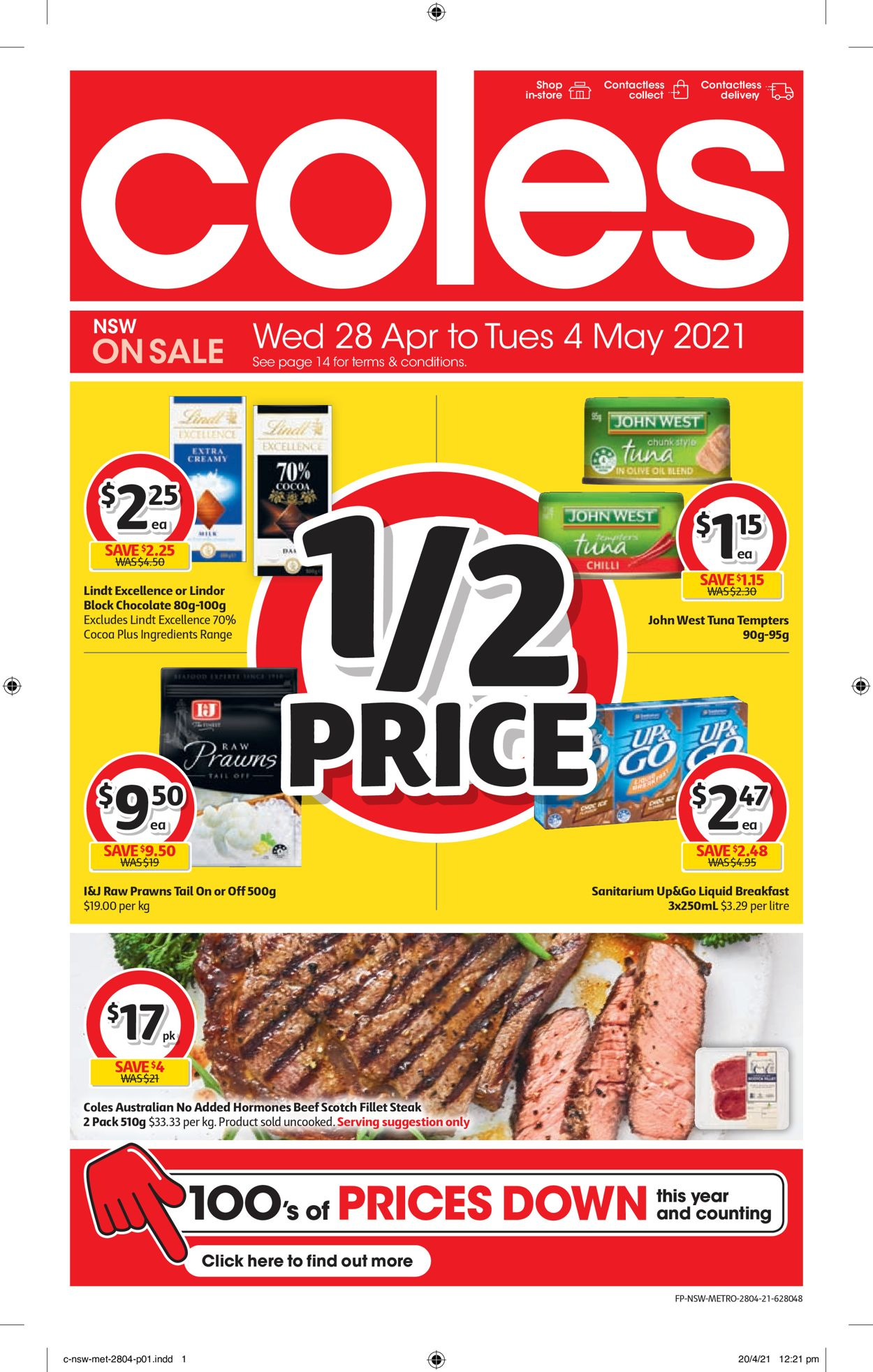 Coles Catalogue - 28/04-04/05/2021