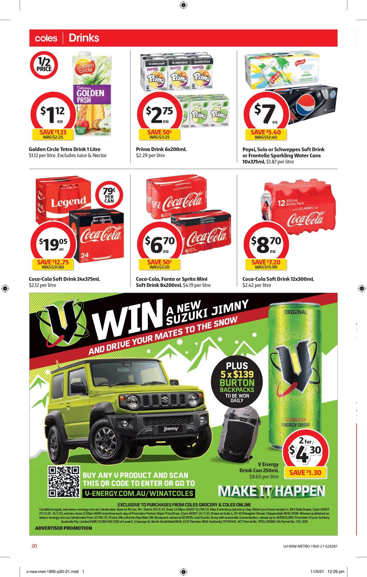 Coles Catalogue - 19/05-25/05/2021 (Page 20)