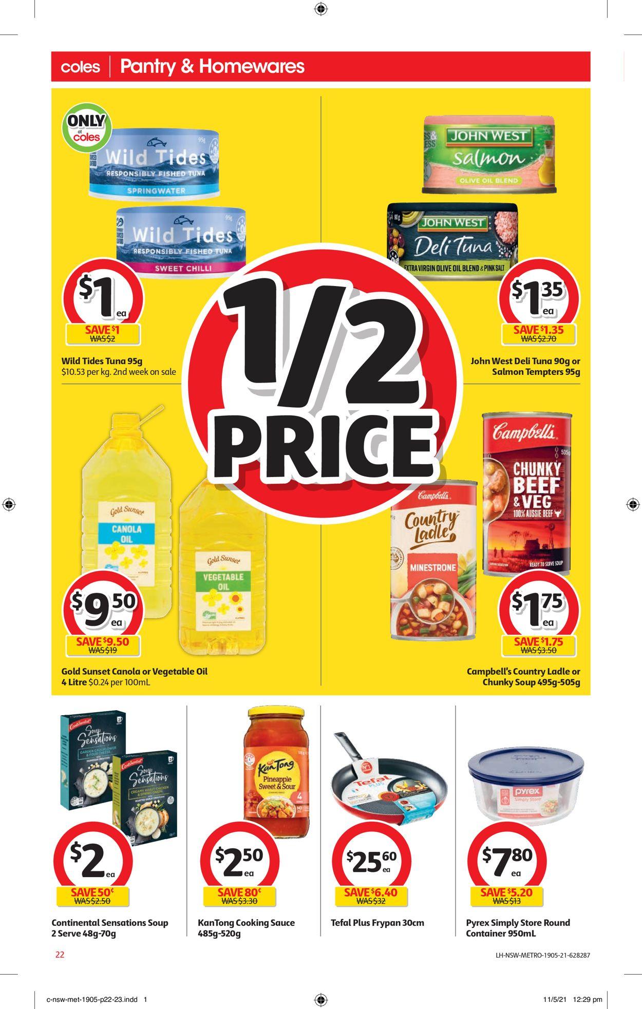 Coles Catalogue - 19/05-25/05/2021 (Page 22)