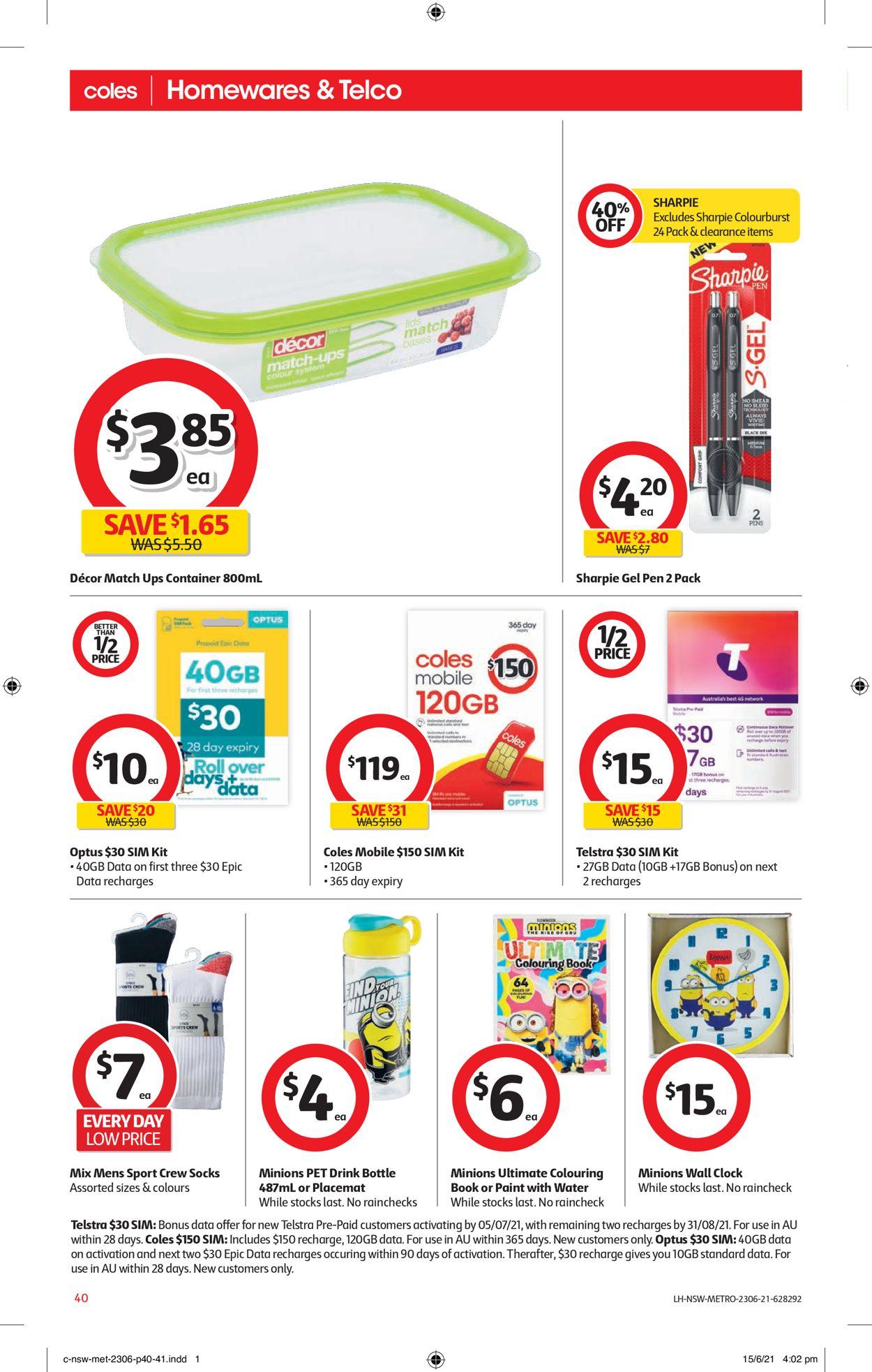 Coles Catalogue - 23/06-29/06/2021 (Page 40)