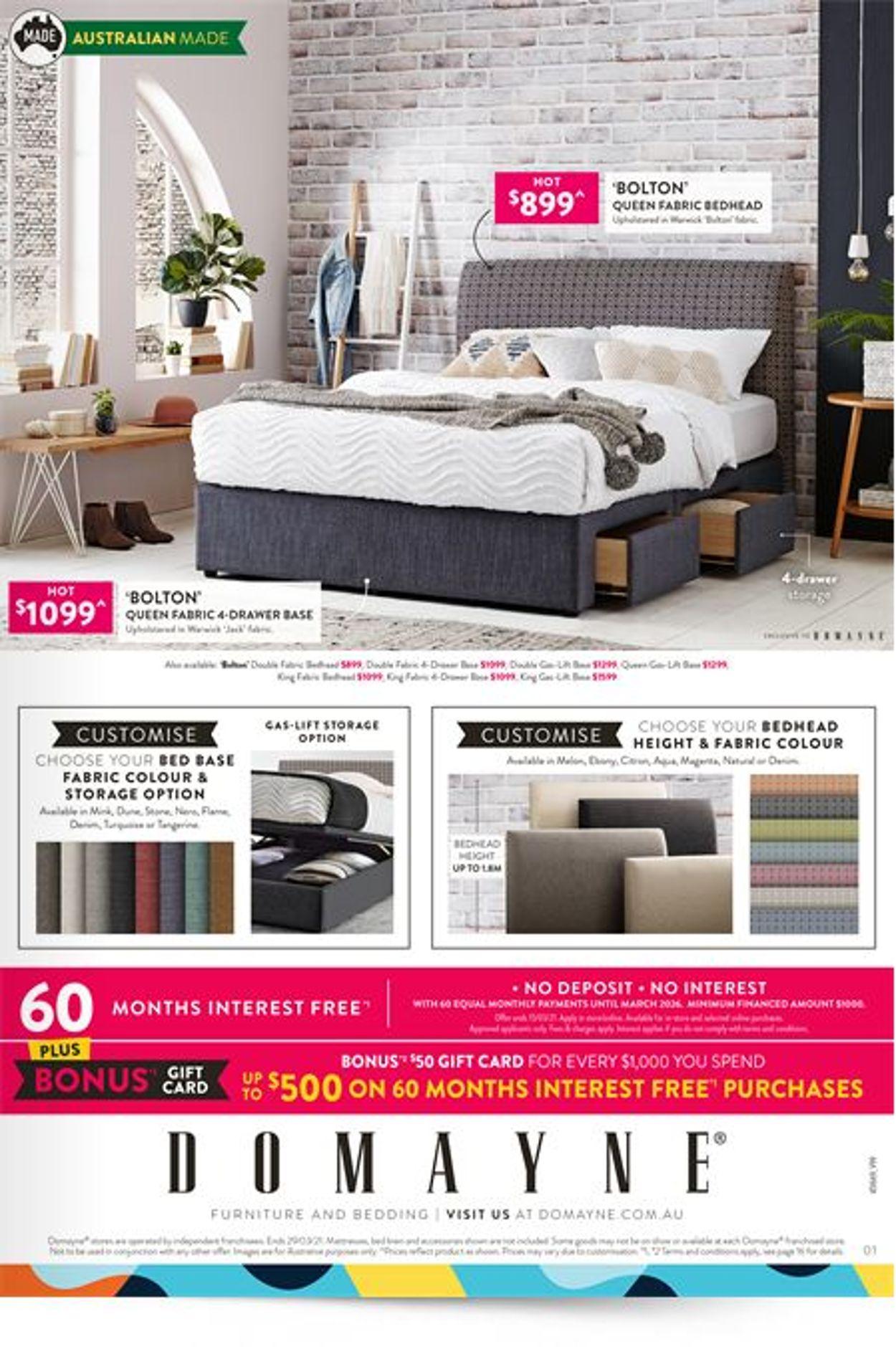 Domayne Catalogue - 12/03-29/03/2021