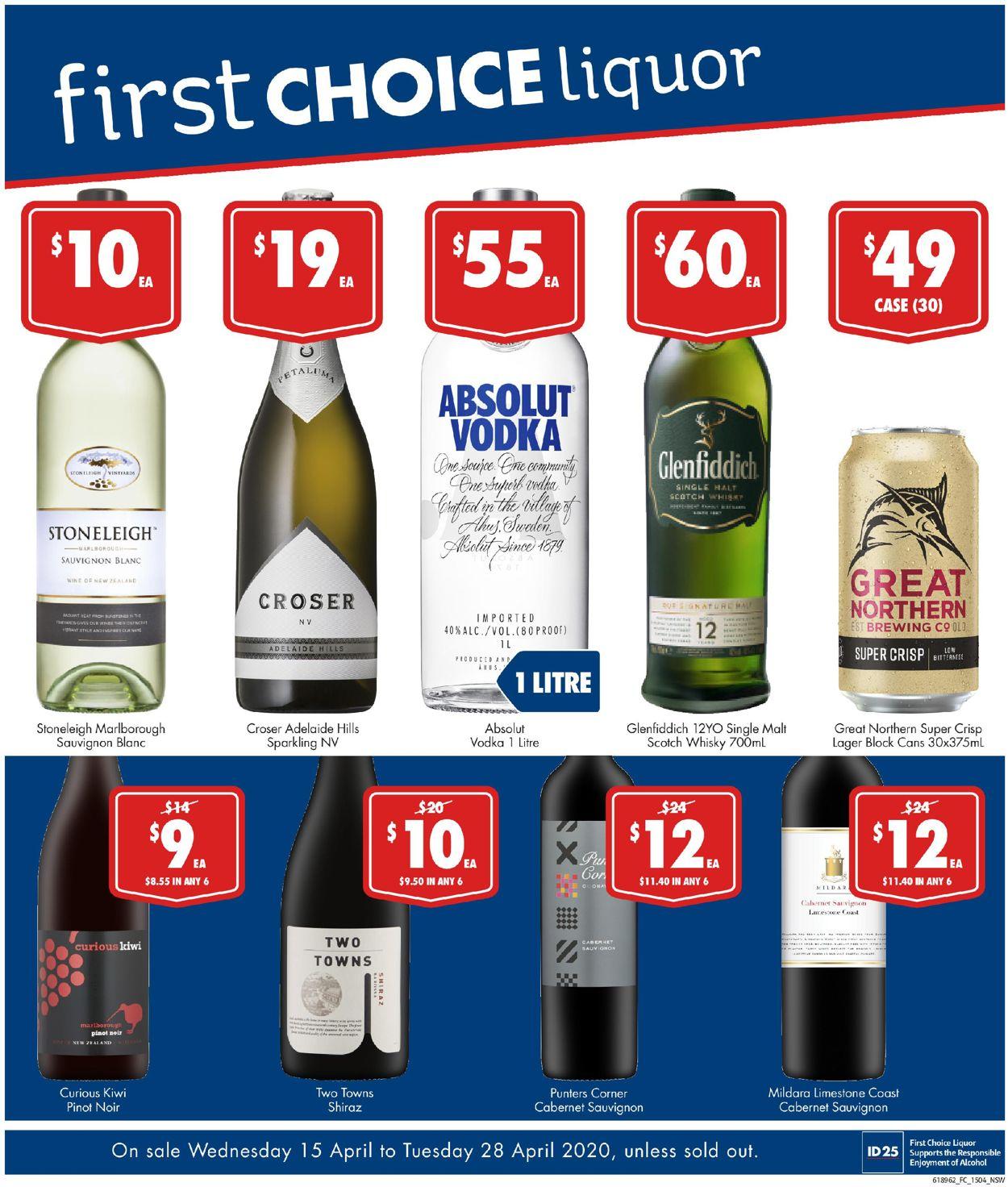First Choice Catalogue - 15/04-28/04/2020