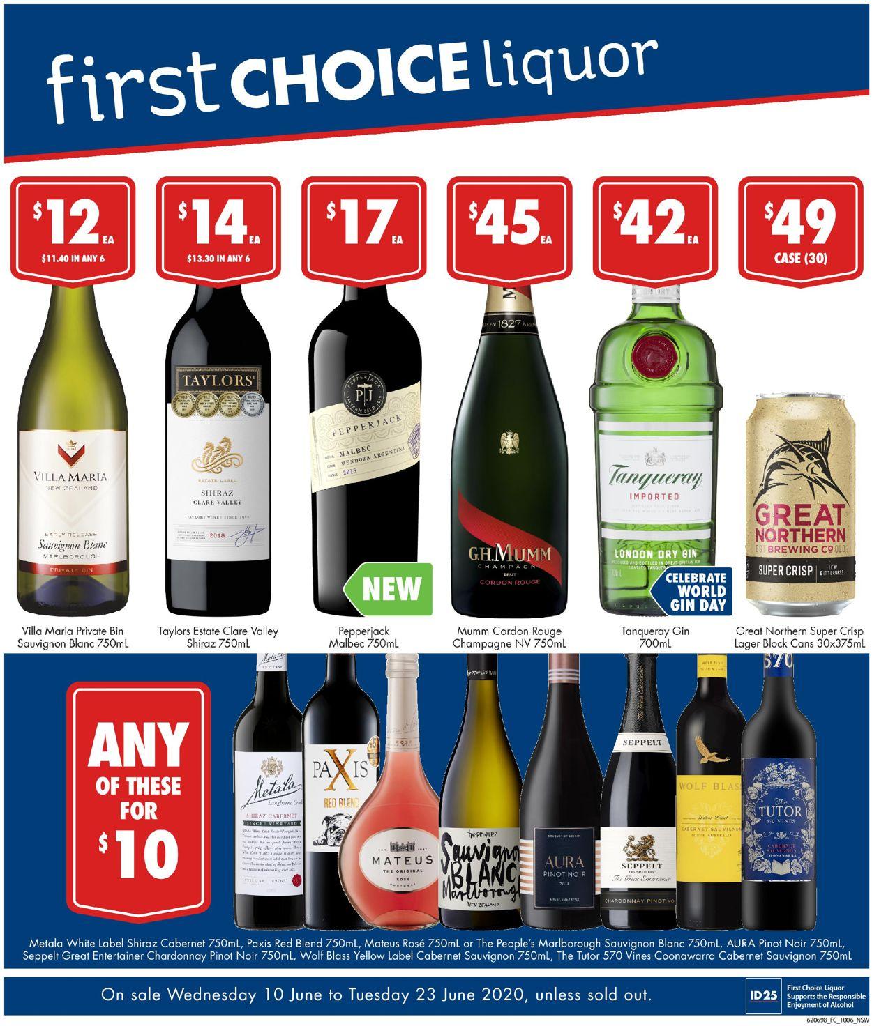 First Choice Catalogue - 10/06-23/06/2020