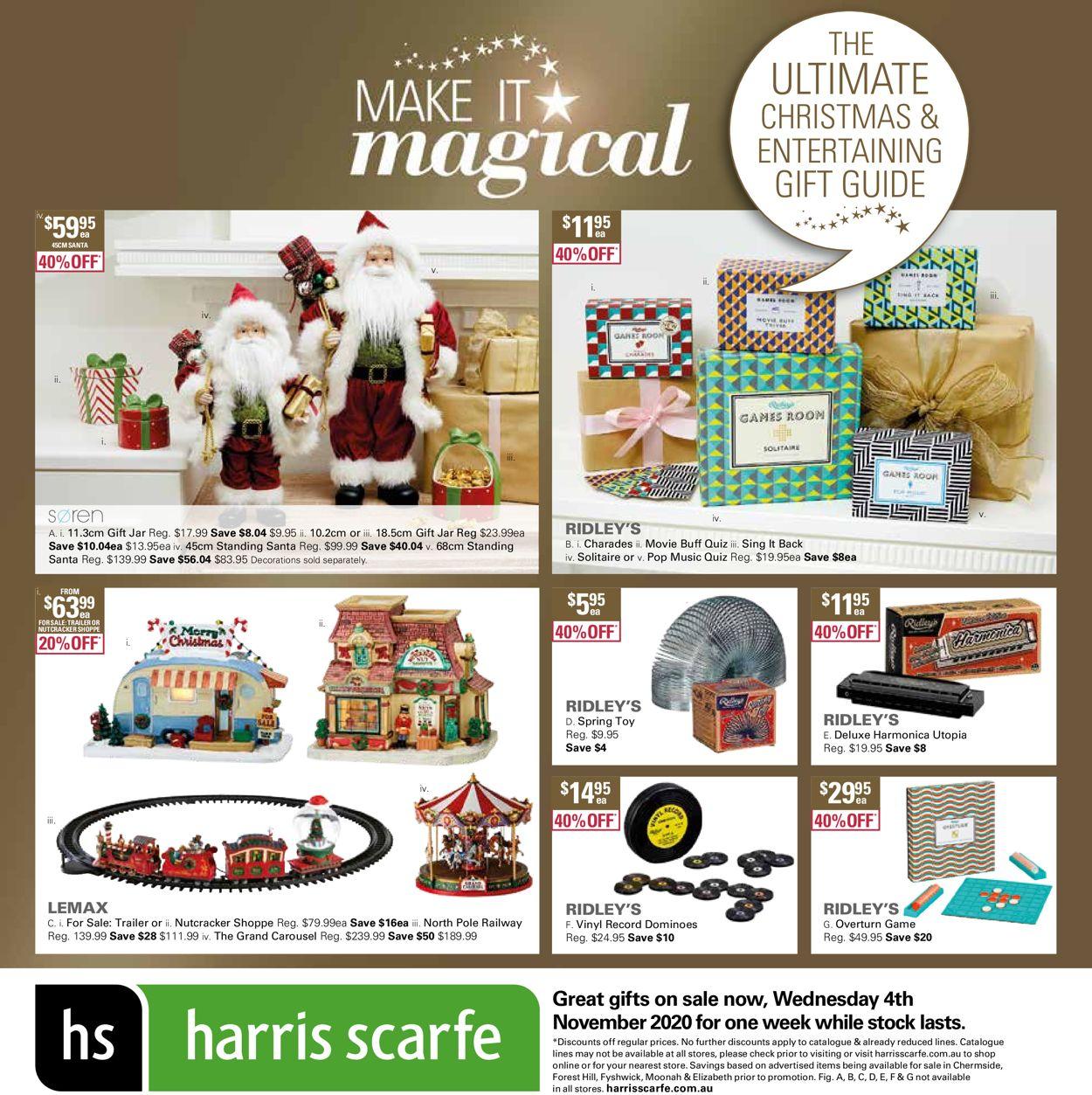 Harris Scarfe Christmas 2020 Catalogue - 04/11-10/11/2020