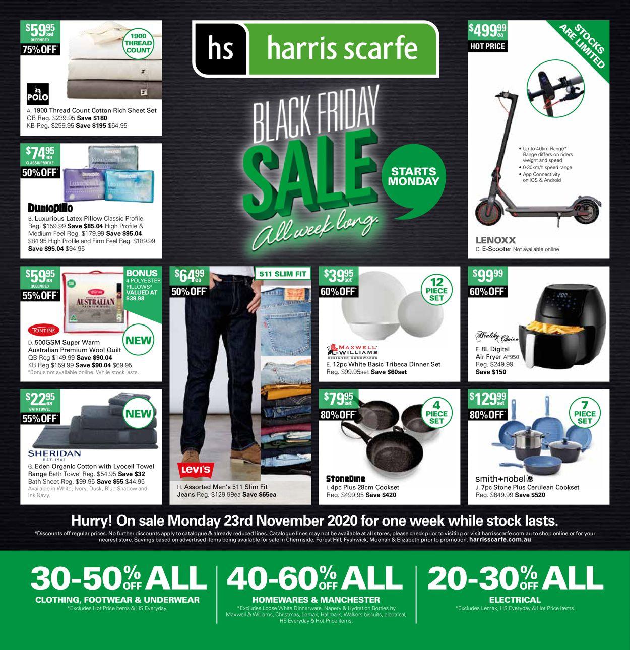 Harris Scarfe Black Friday 2020 Catalogue - 23/11-30/11/2020