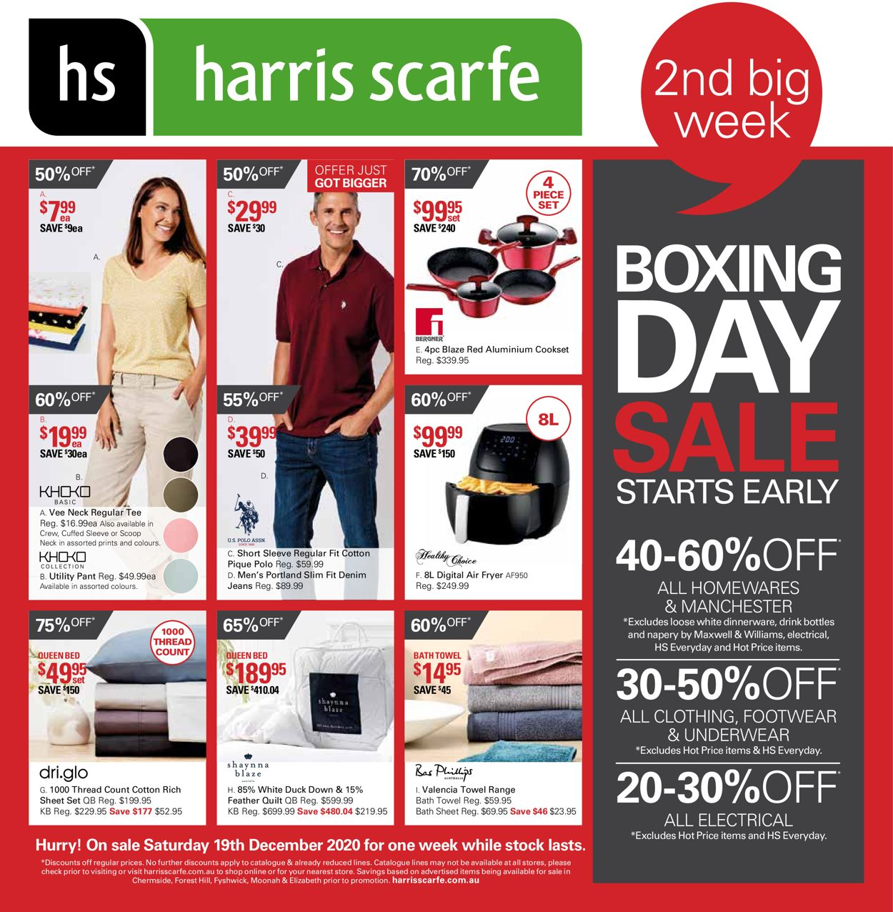 Harris Scarfe - Boxing Day 2020 Catalogue - 19/12-25/12/2020