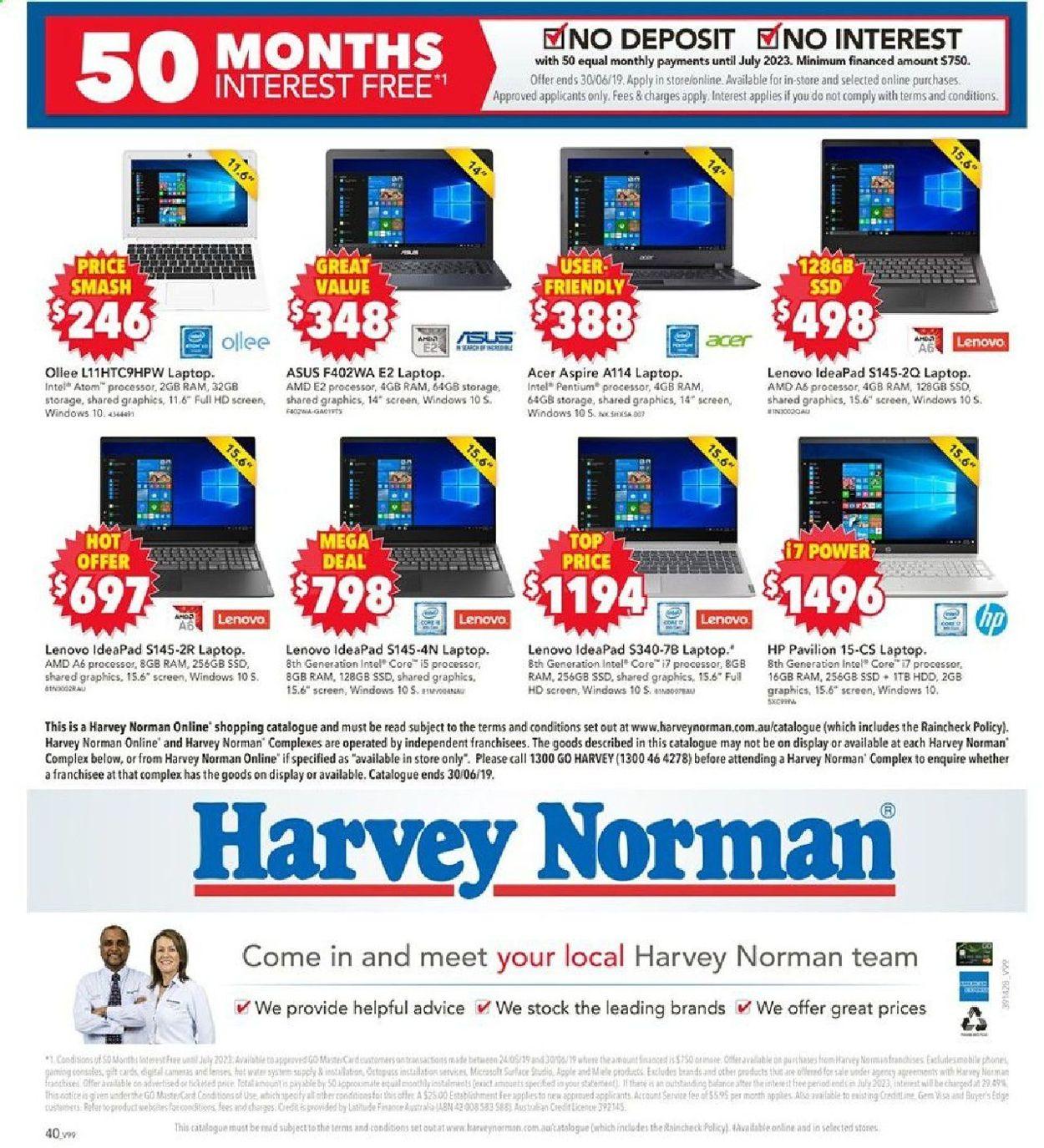 Harvey Norman Catalogue - 30/05-30/06/2019 (Page 40)