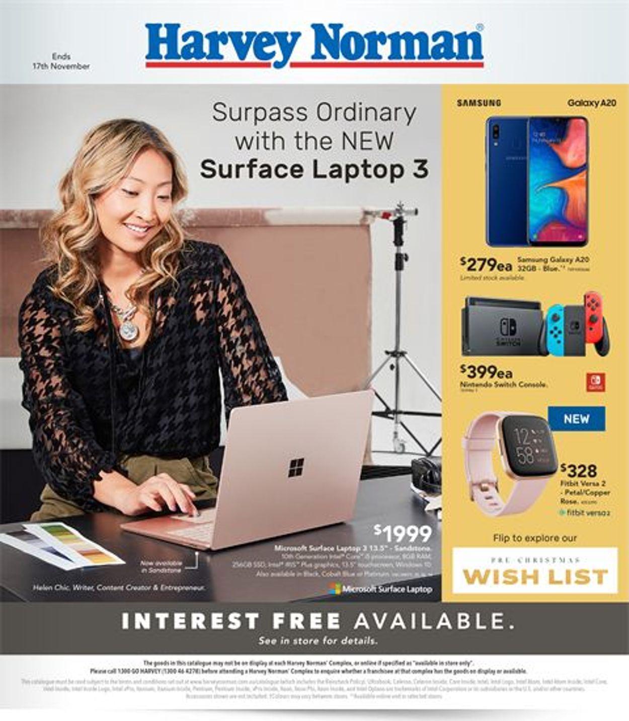 Harvey Norman Catalogue - 01/11-17/11/2019