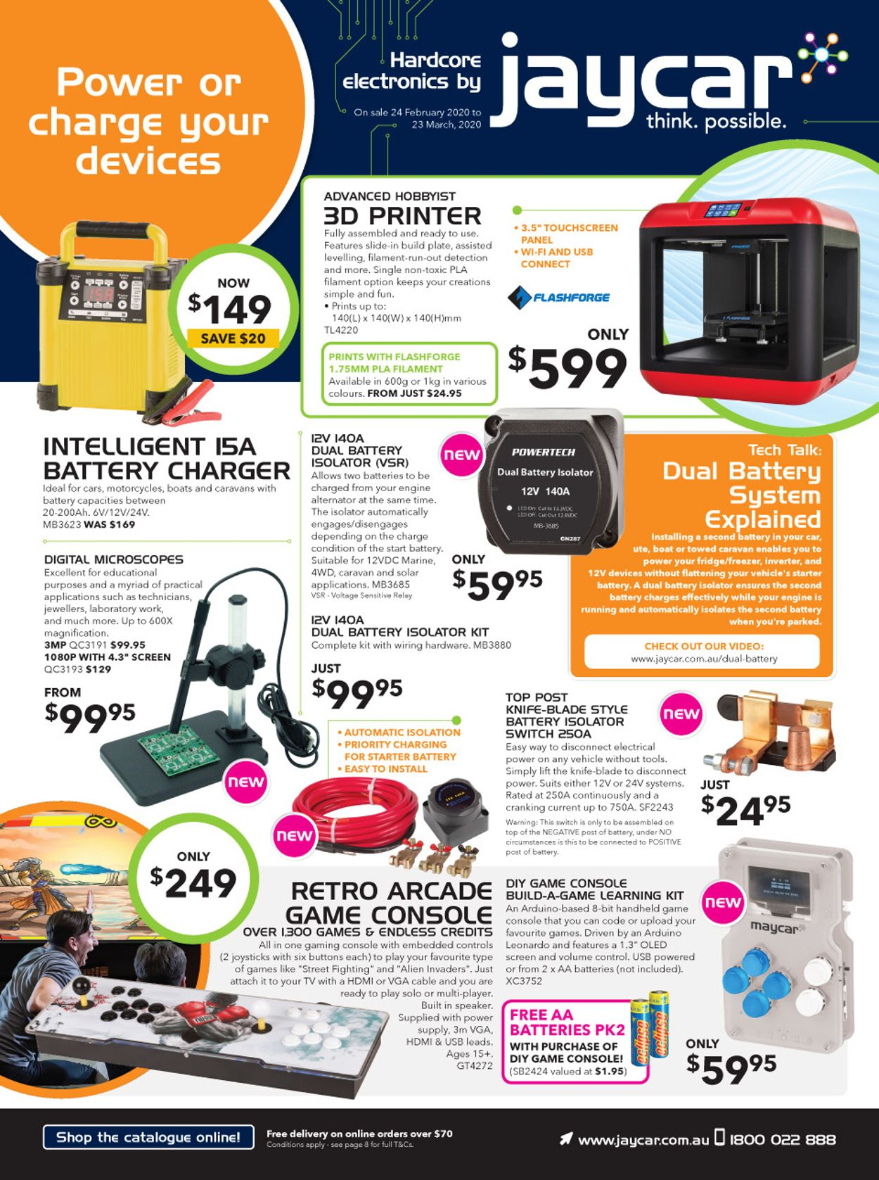 Jaycar Electronics Catalogue - 24/02-23/03/2020
