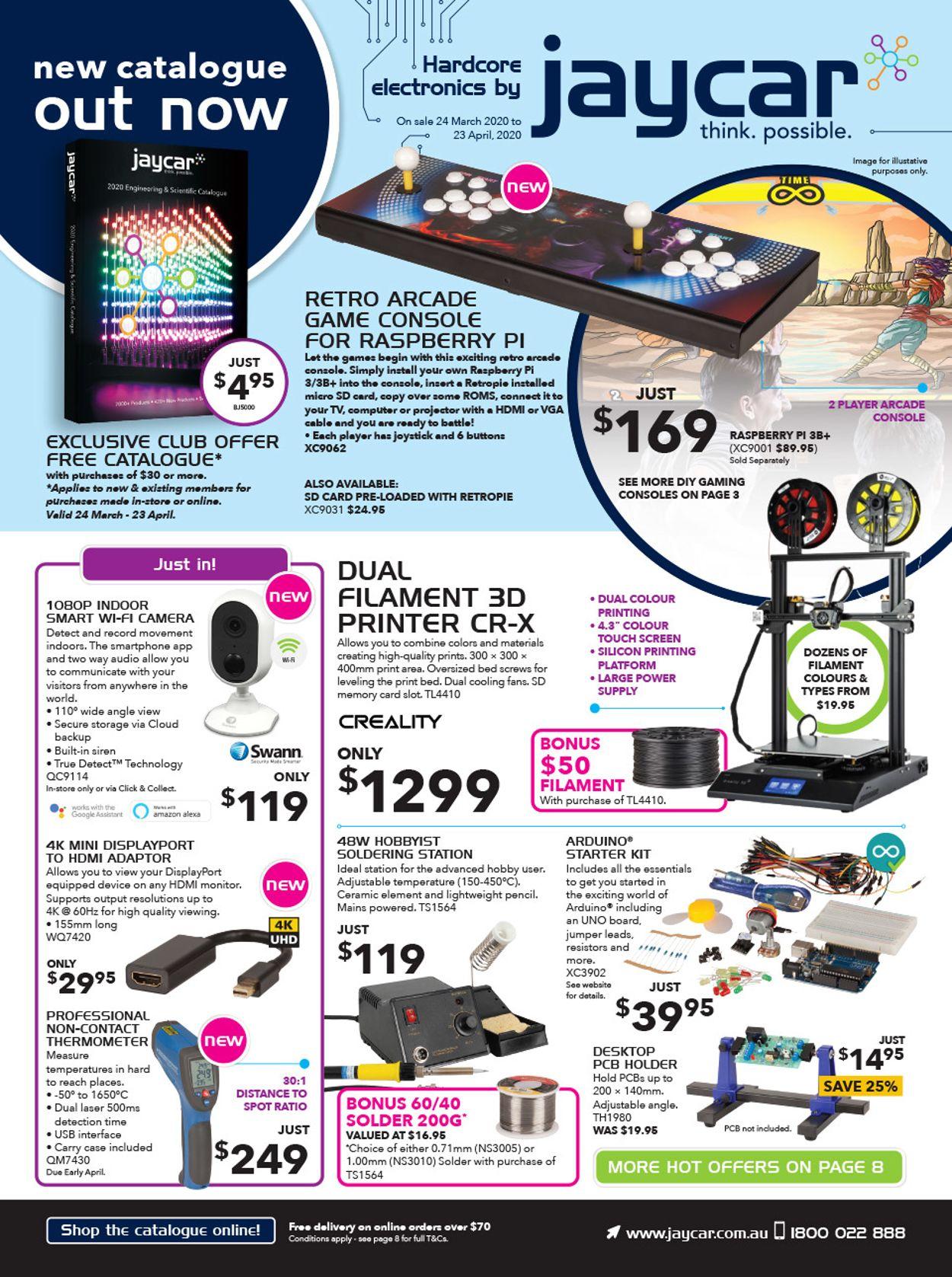 Jaycar Electronics Catalogue - 24/03-23/04/2020
