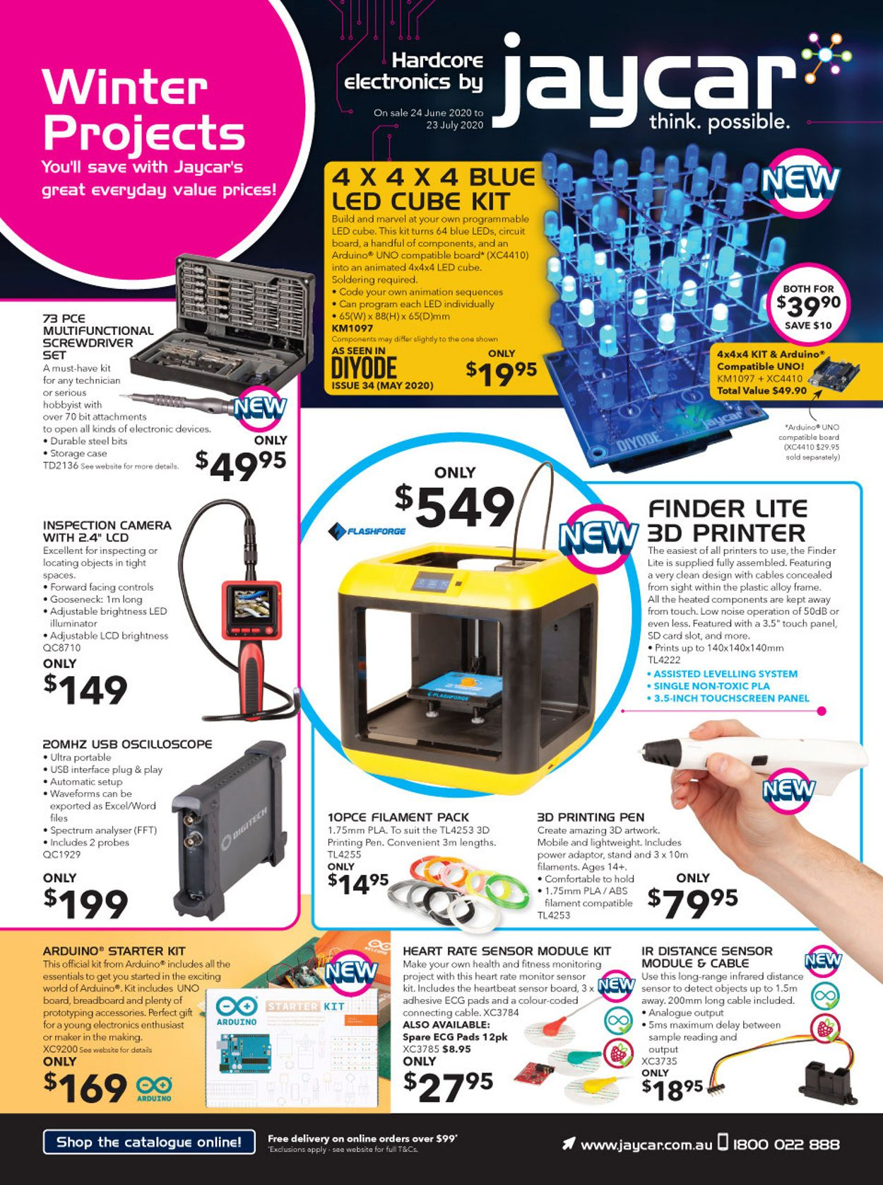 Jaycar Electronics Catalogue - 24/06-23/07/2020