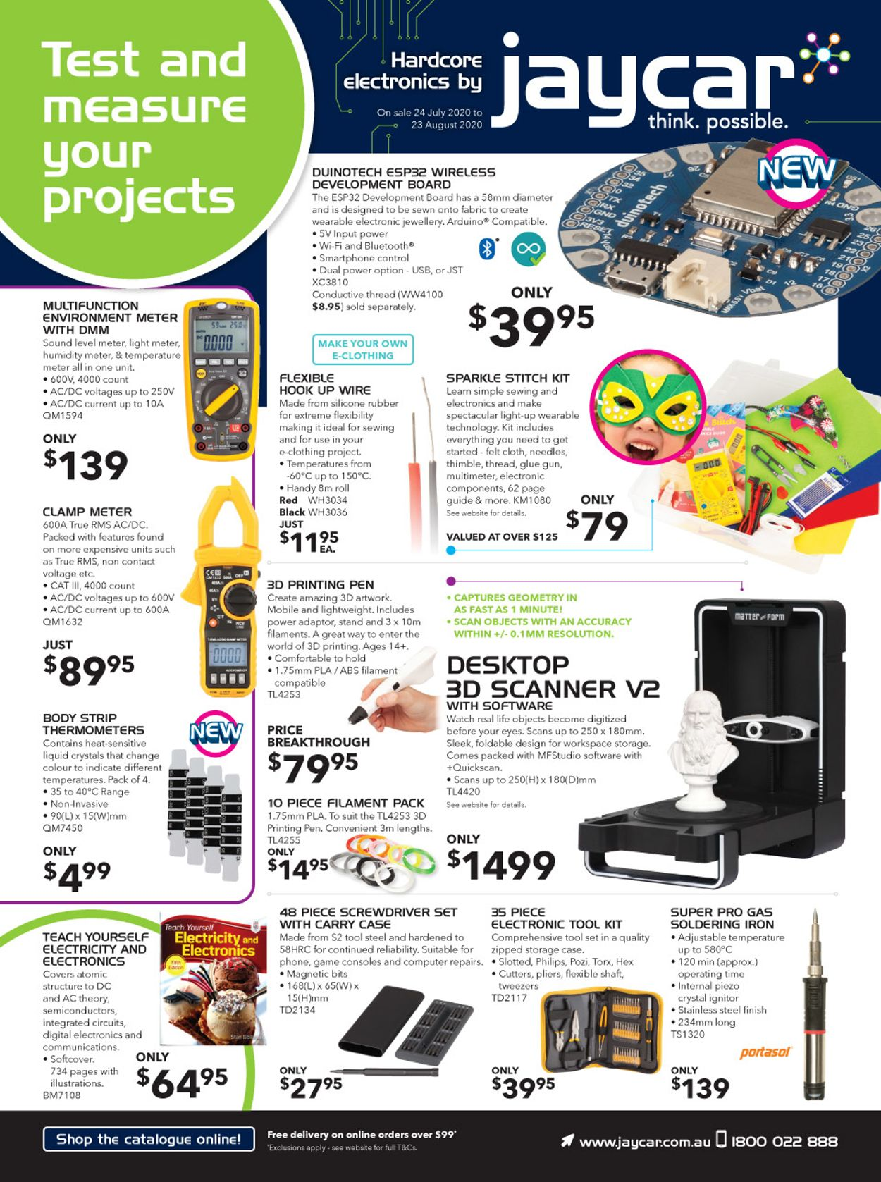 Jaycar Electronics Catalogue - 24/07-23/08/2020