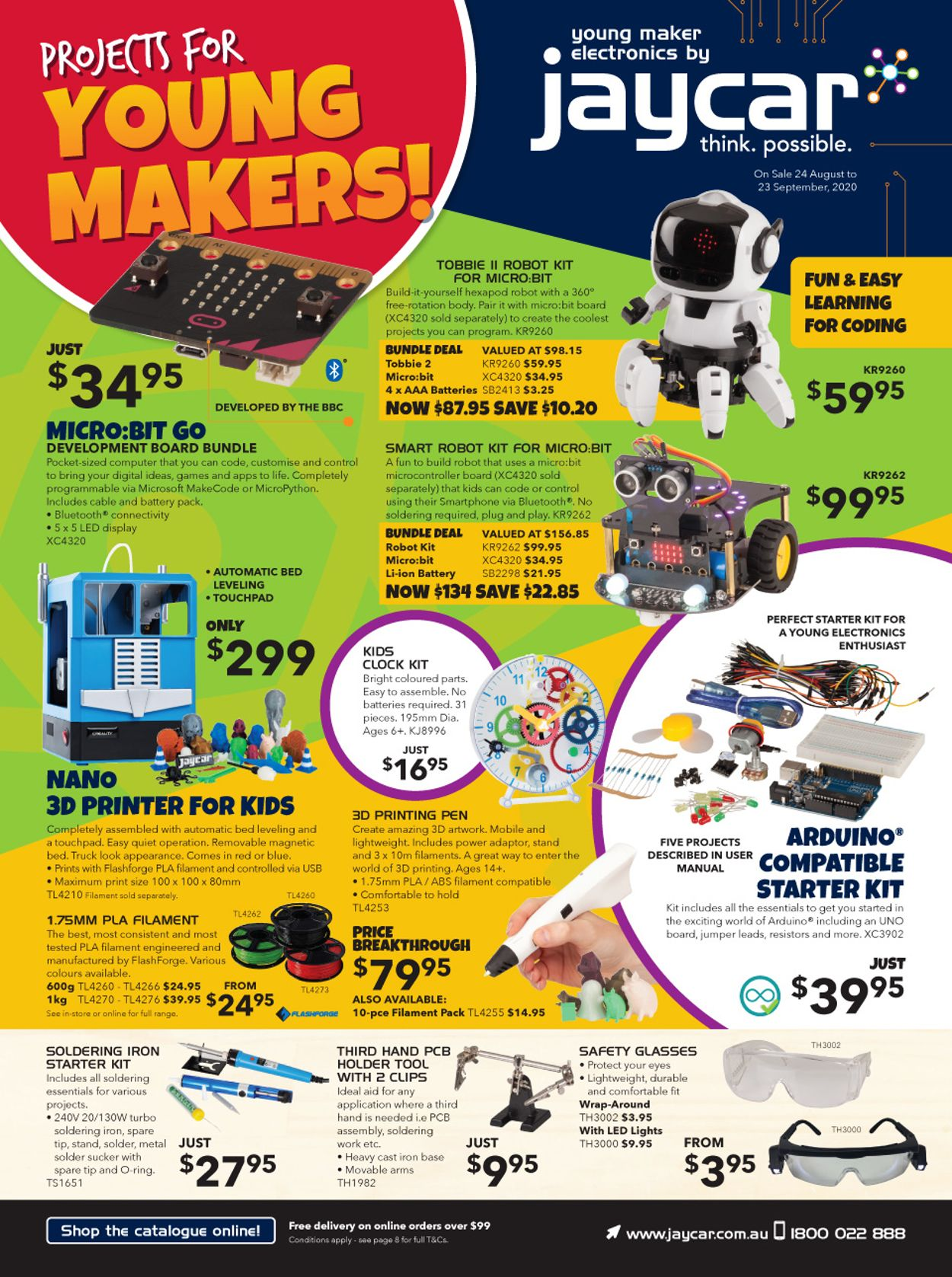 Jaycar Electronics Catalogue - 24/08-23/09/2020
