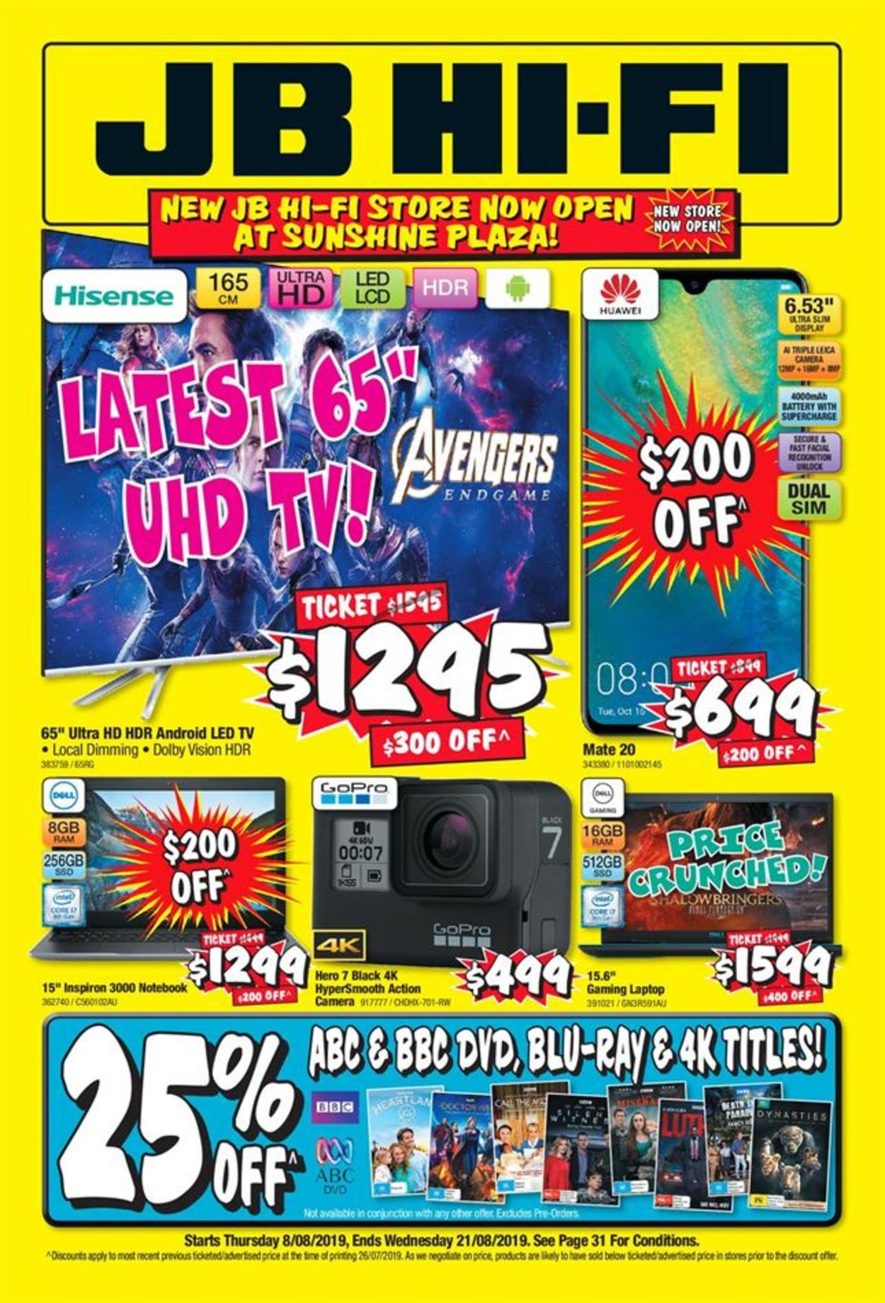 JB Hi-Fi Catalogue - 08/08-21/08/2019