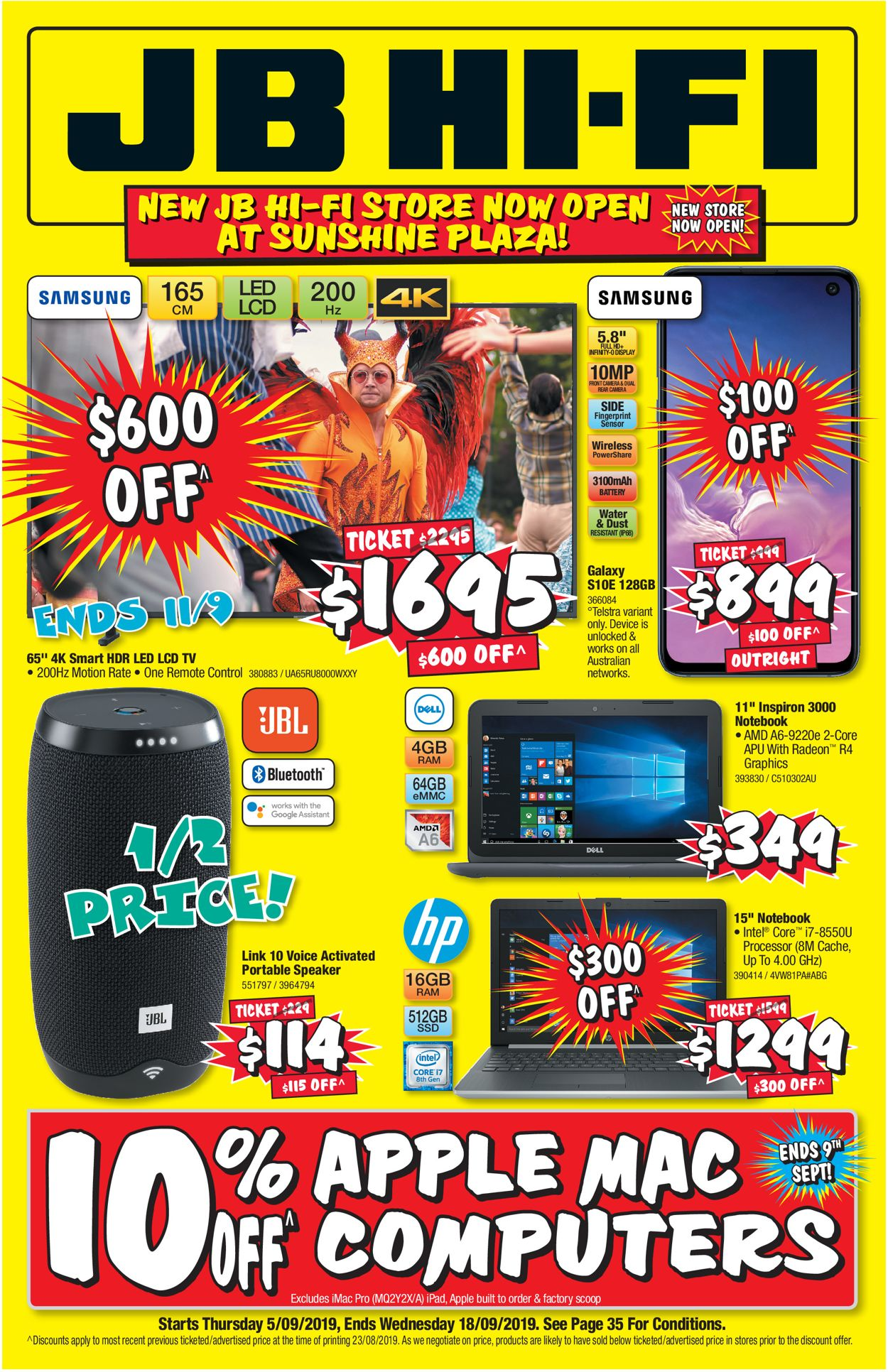 JB Hi-Fi Catalogue - 05/09-18/09/2019