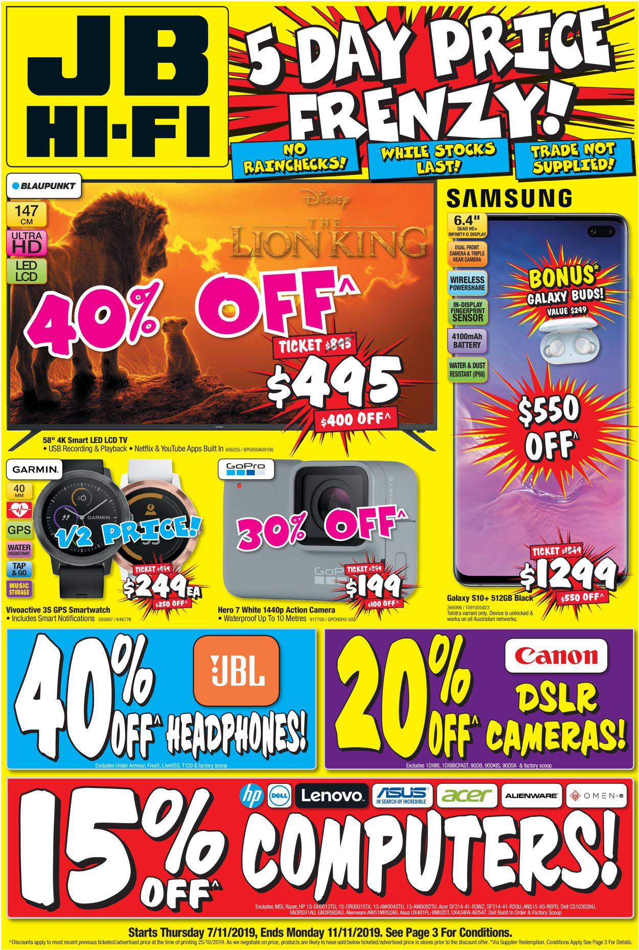 JB Hi-Fi Catalogue - 07/11-11/11/2019