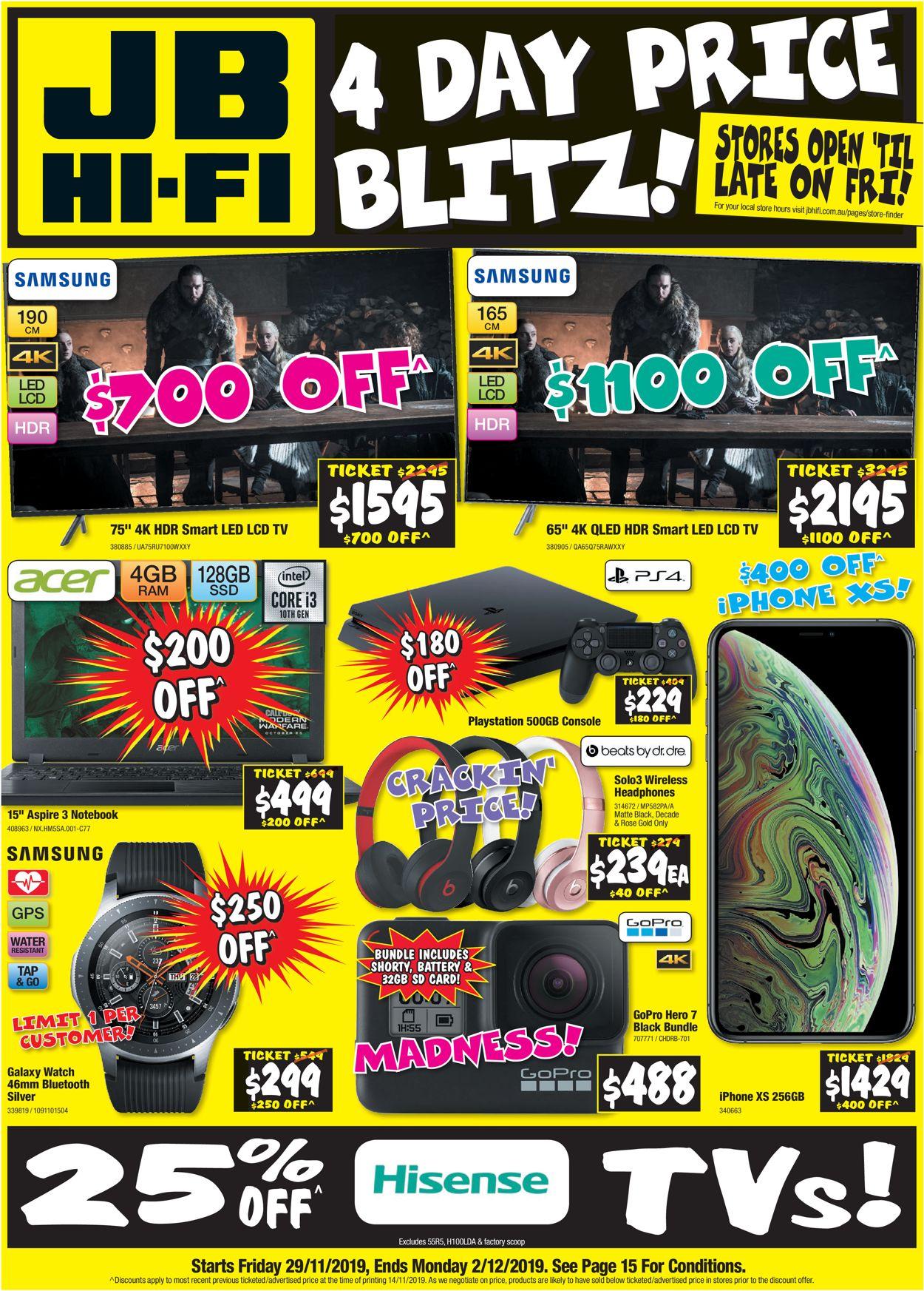 JB Hi-Fi Catalogue - 29/11-02/12/2019