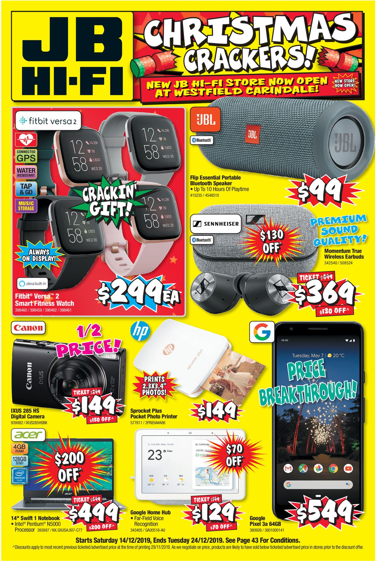 JB Hi-Fi Christmas Catalogue 2019 Catalogue - 14/12-24/12/2019
