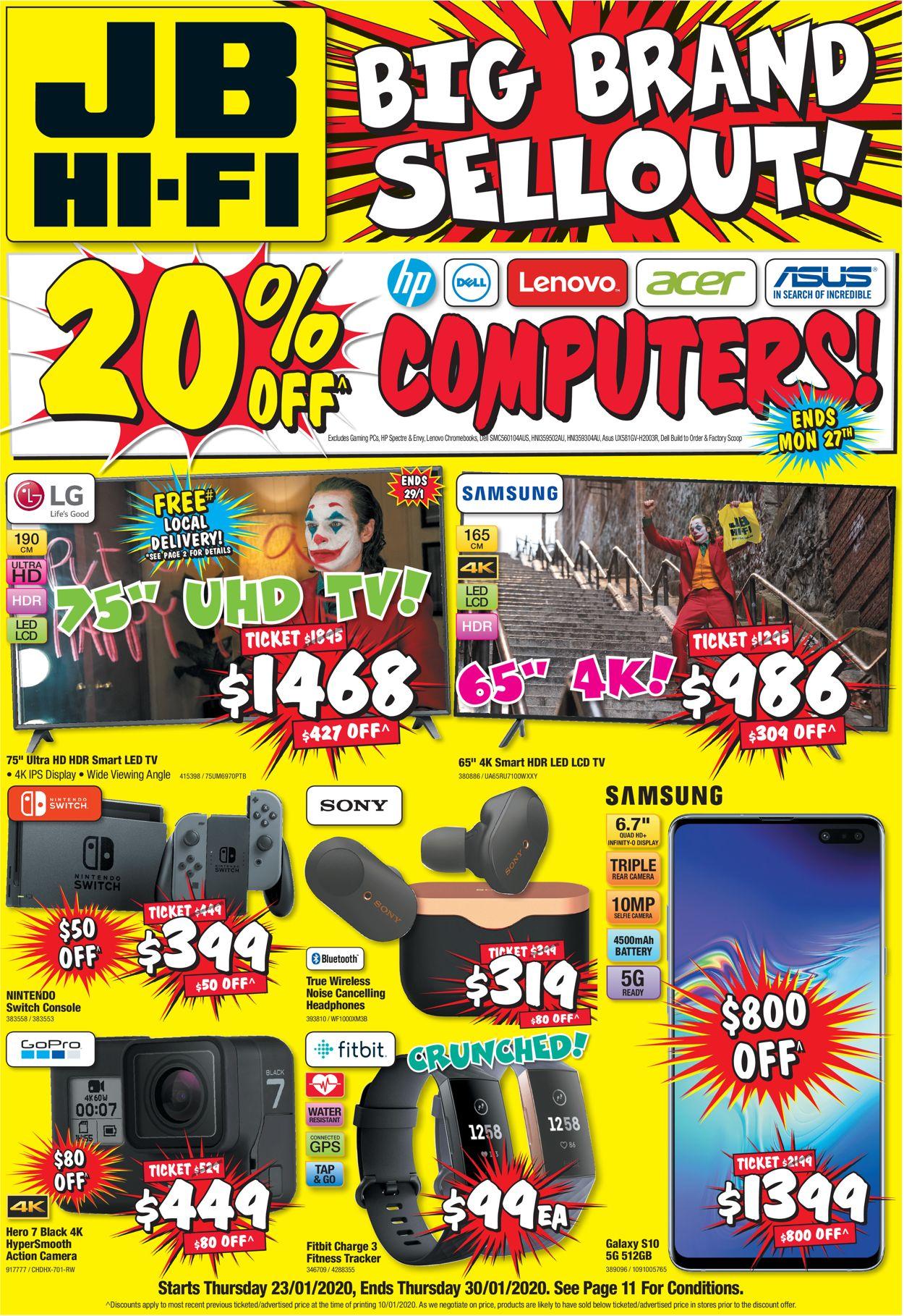 JB Hi-Fi Catalogue - 23/01-30/01/2020