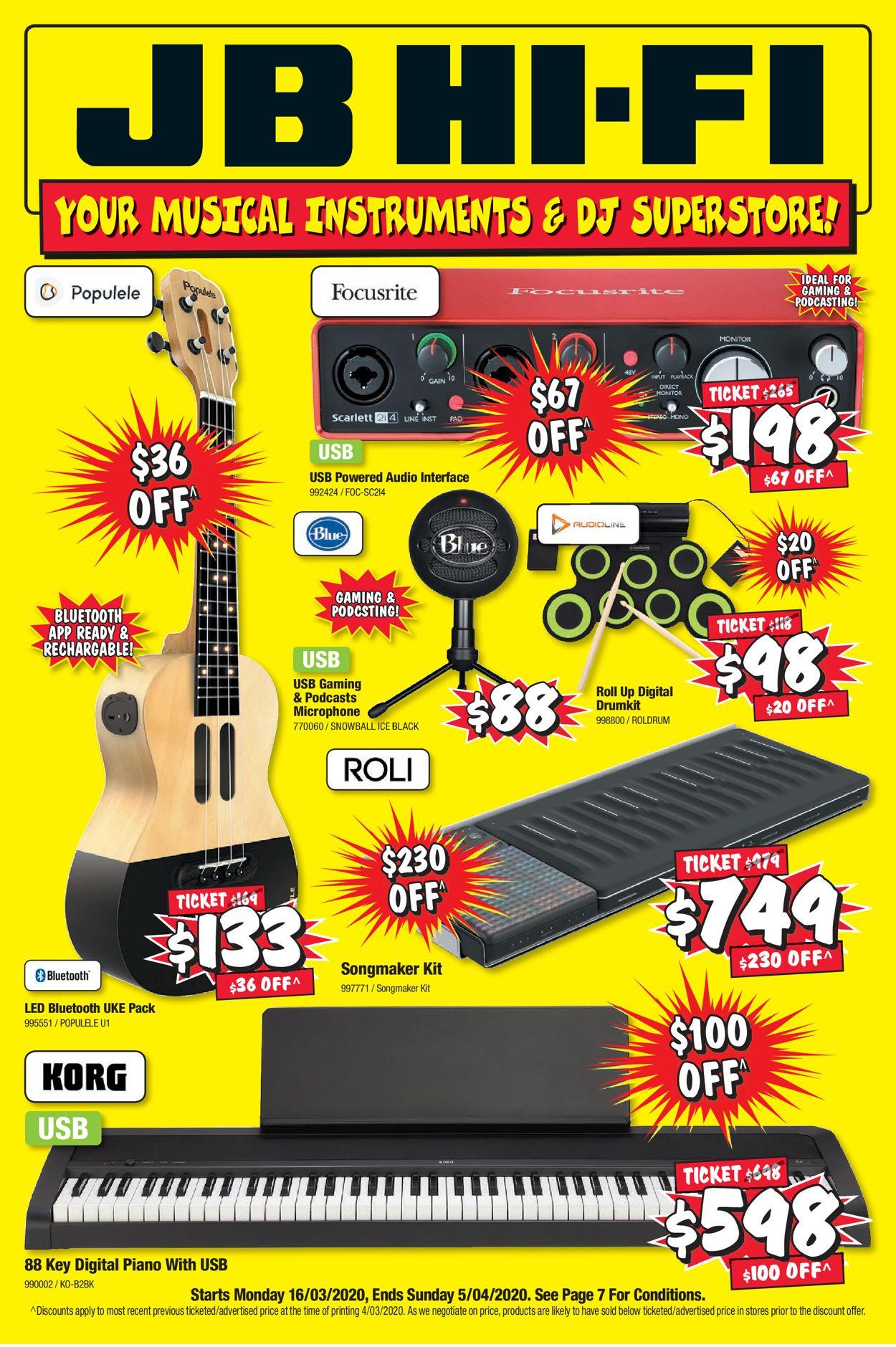 JB Hi-Fi Catalogue - 16/03-05/04/2020