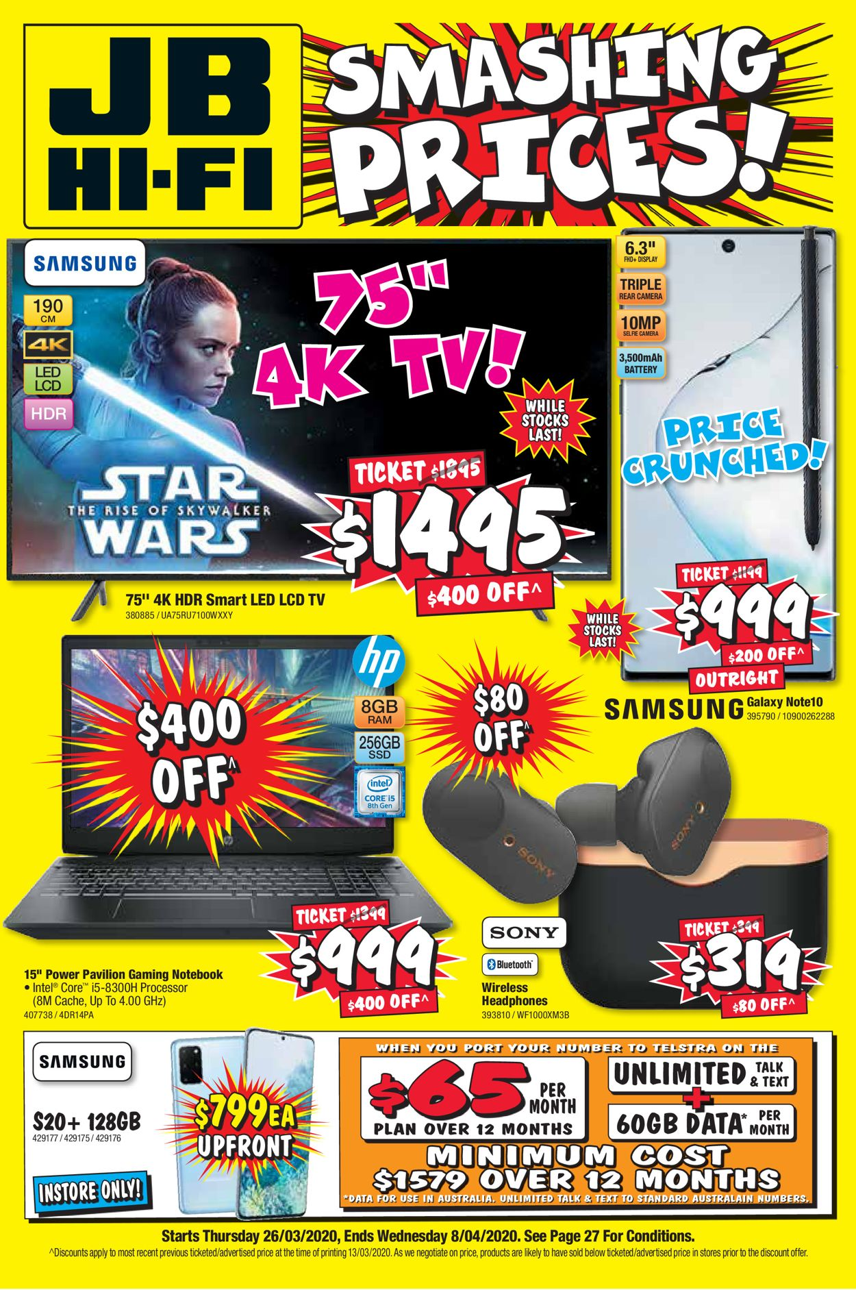 JB Hi-Fi Catalogue - 26/03-08/04/2020
