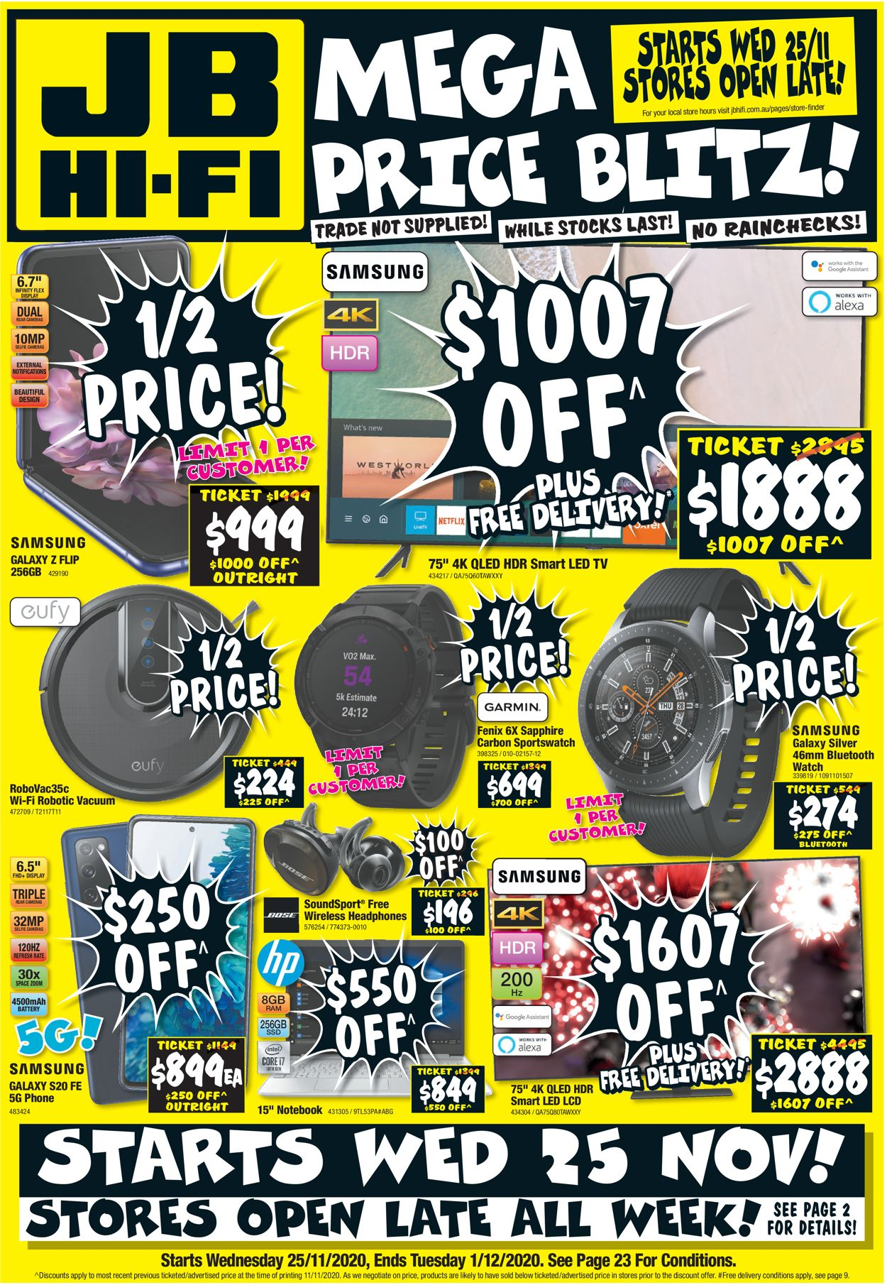 JB Hi-Fi - Black Friday 2020 Catalogue - 25/11-01/12/2020