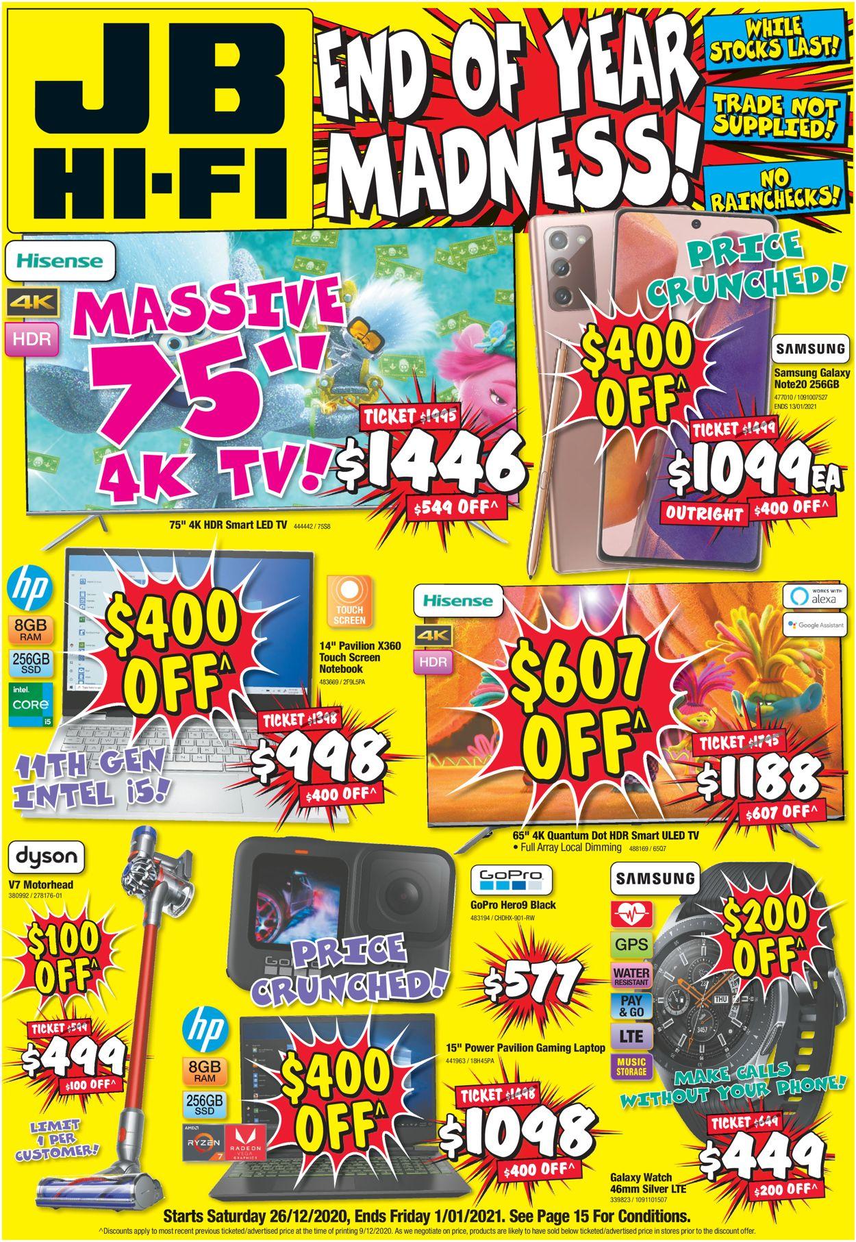 JB Hi-Fi Catalogue - 26/12-01/01/2021