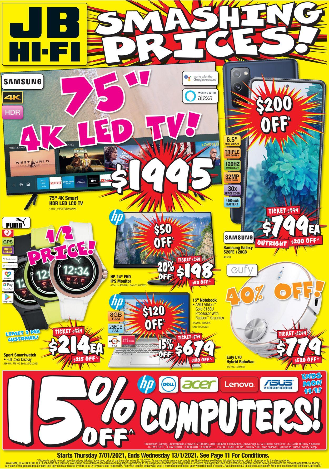 JB Hi-Fi Catalogue - 07/01-13/01/2021