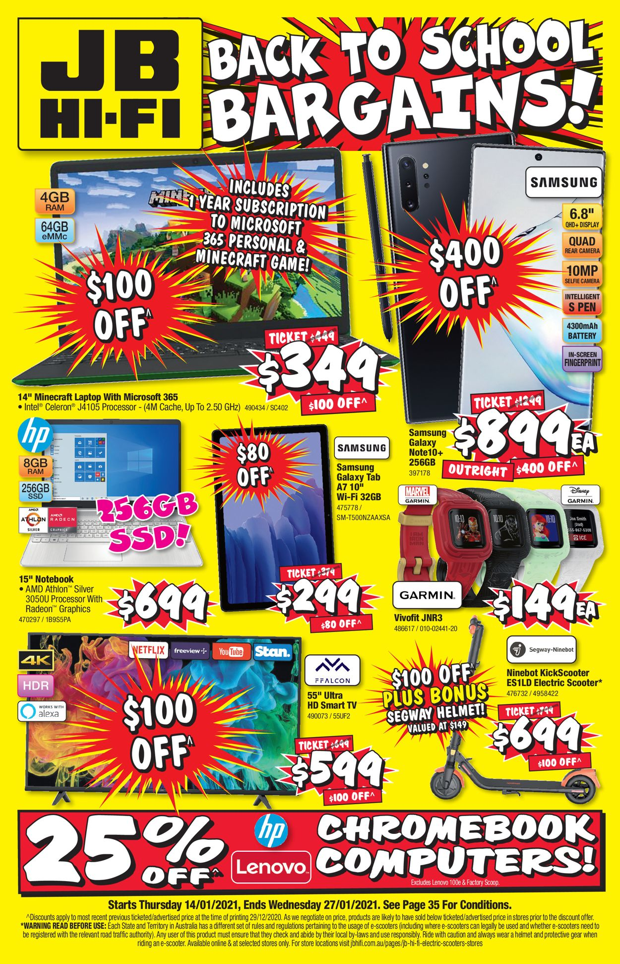 JB Hi-Fi - Back to School Catalogue - 14/01-27/01/2021
