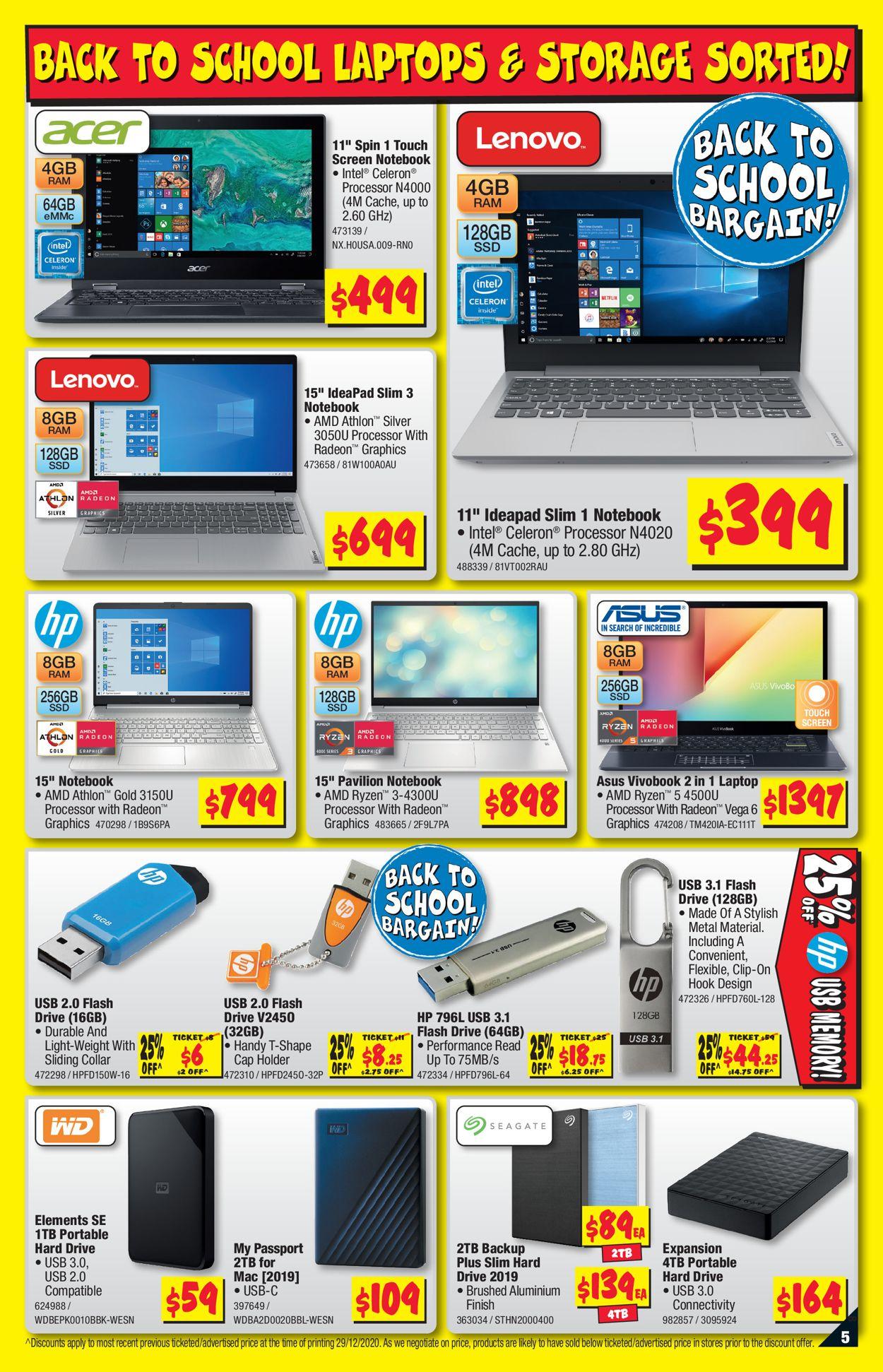 JB Hi-Fi - Back to School Catalogue - 14/01-27/01/2021 (Page 5)
