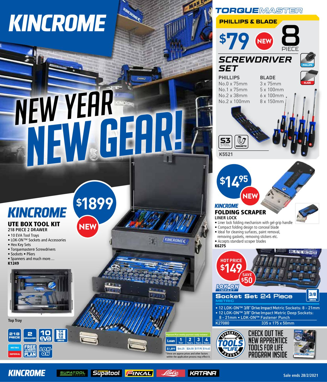 Kincrome - New Year Sale 2021 Catalogue - 01/01-28/02/2021
