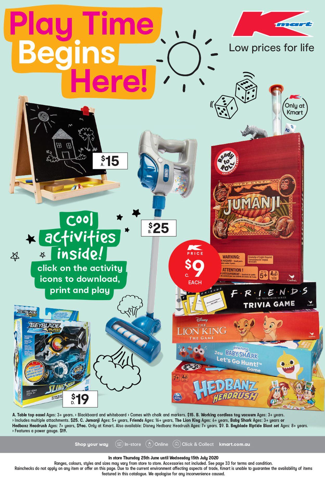 Kmart Catalogue - 25/06-15/07/2020