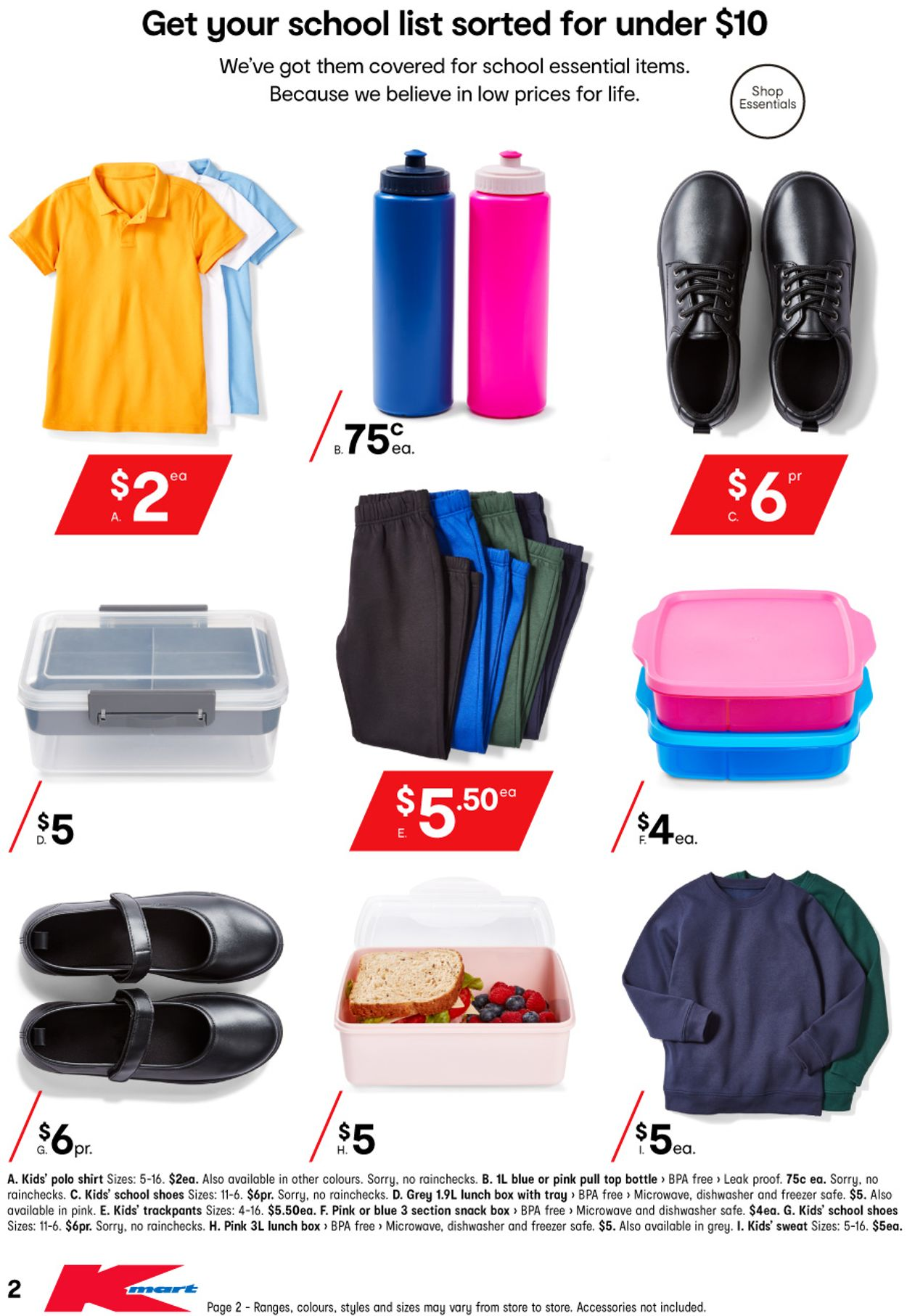 Kmart - Back to School Catalogue - 14/01-29/01/2021 (Page 2)
