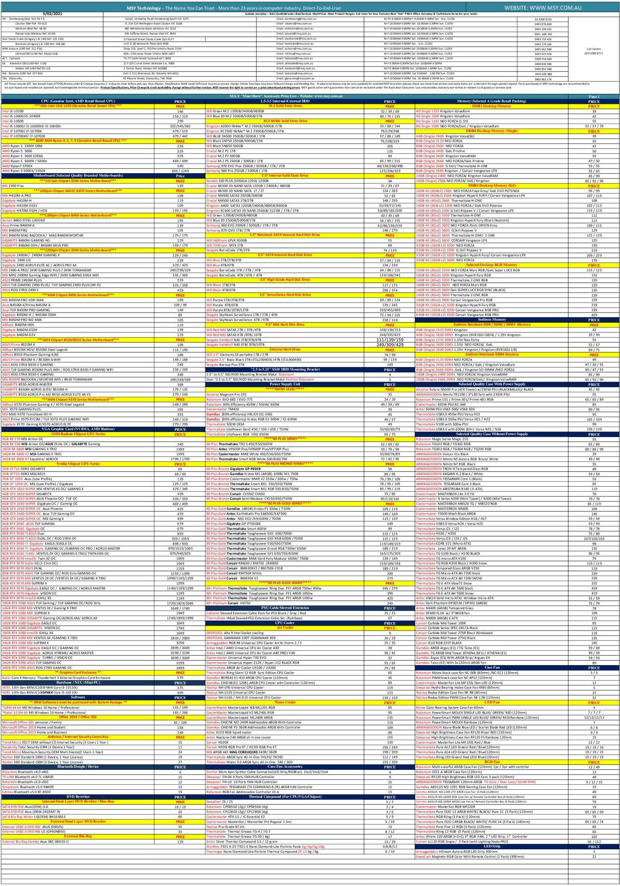 MSY Technology Catalogue - 05/02-05/02/2021